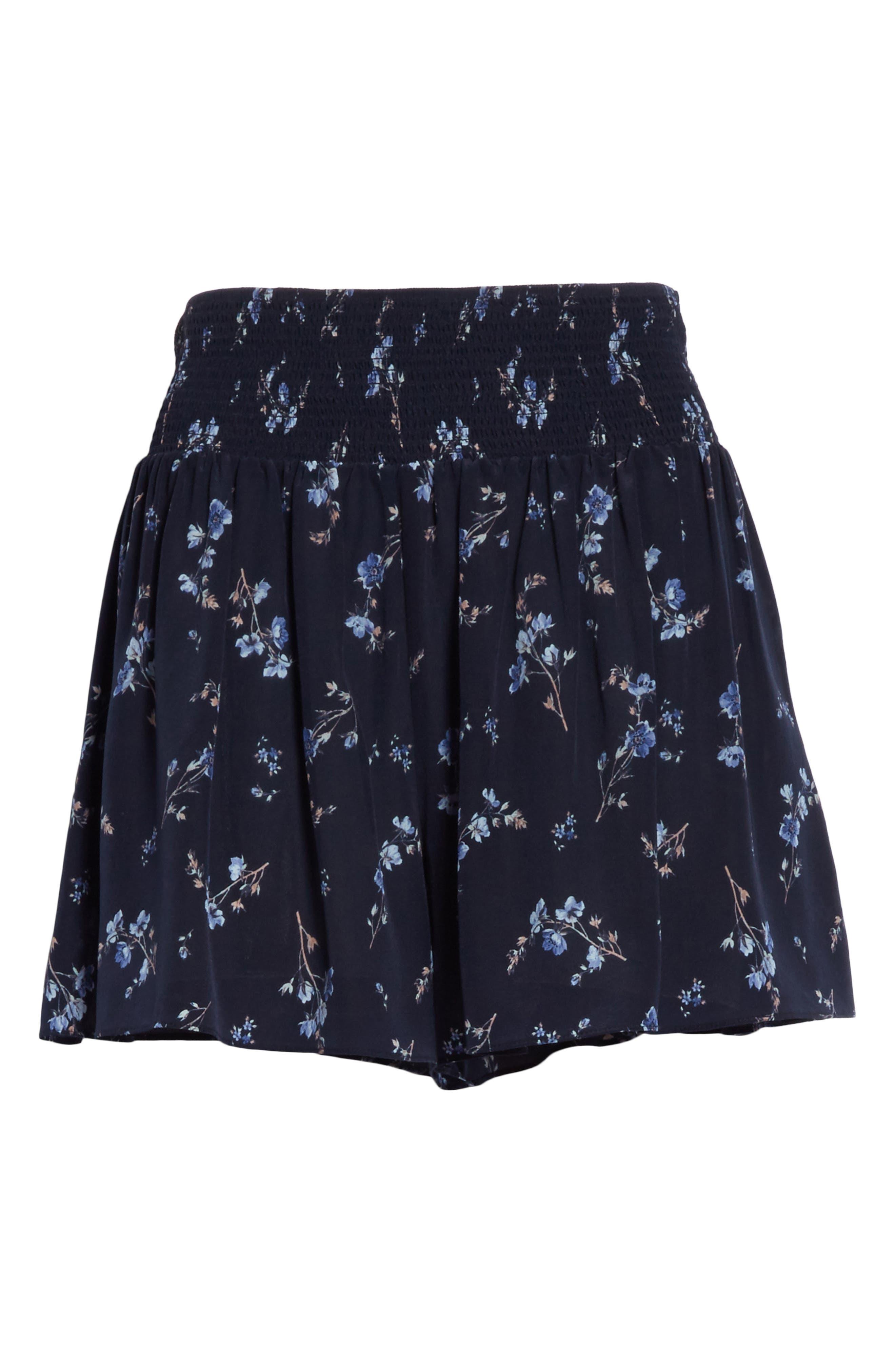 Alternate Image 6  - Rebecca Taylor Francine Floral Silk Shorts