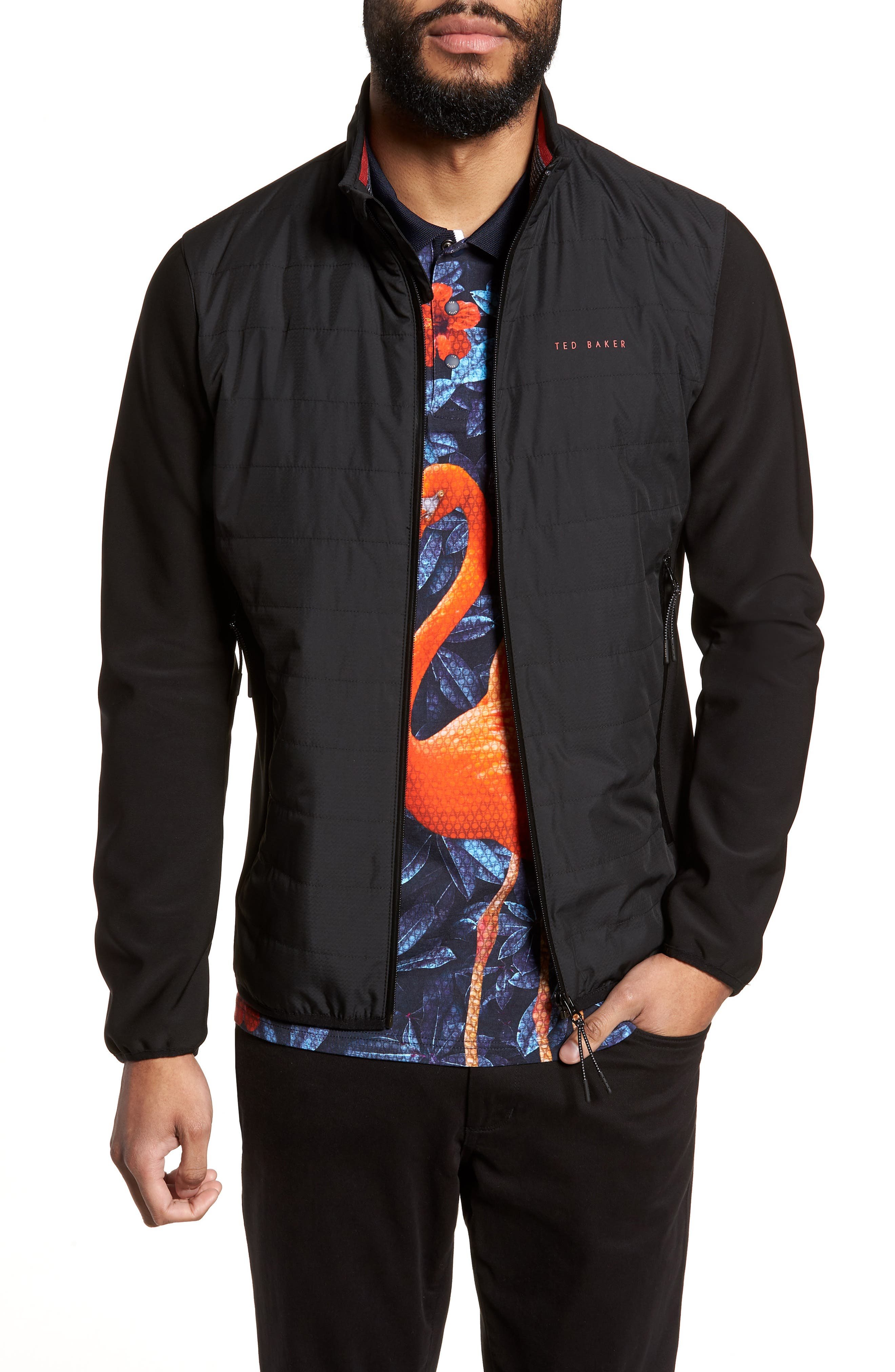 Firstee Bomber Jacket,                         Main,                         color, Black