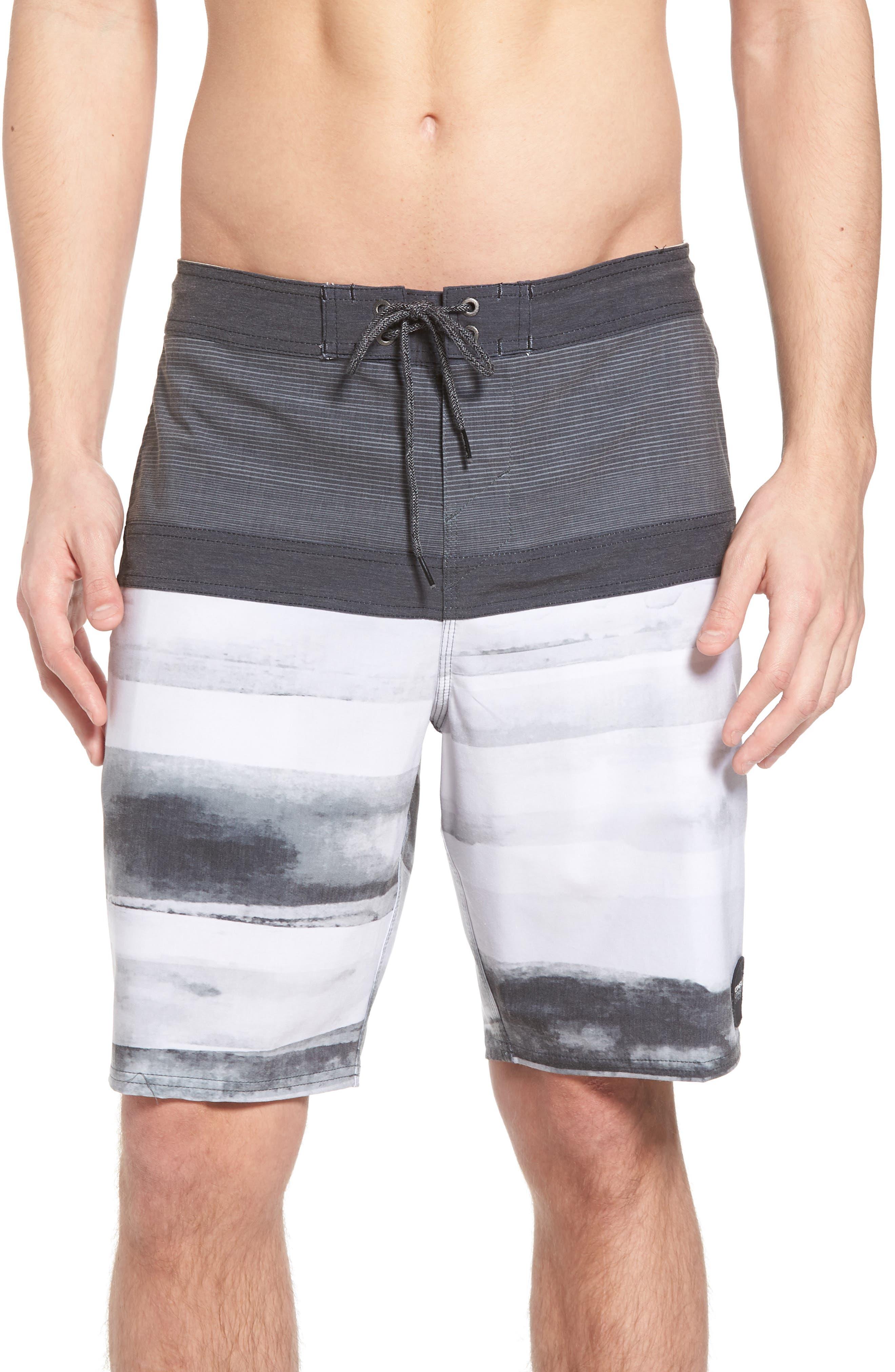 Breaker Cruzer Board Shorts,                             Main thumbnail 1, color,                             Black