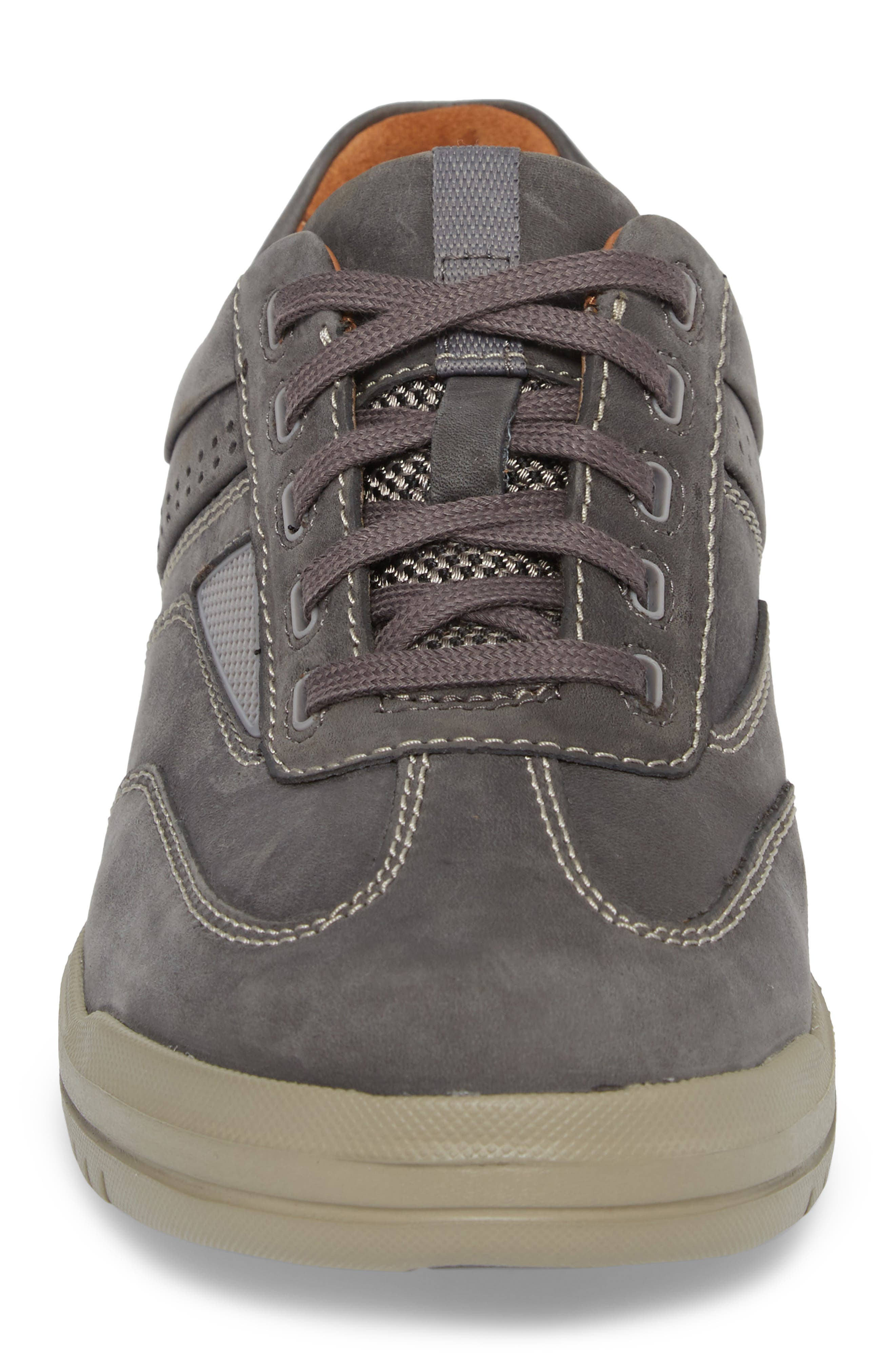 Unrhombus Low Top Sneaker,                             Alternate thumbnail 4, color,                             Dark Grey Leather
