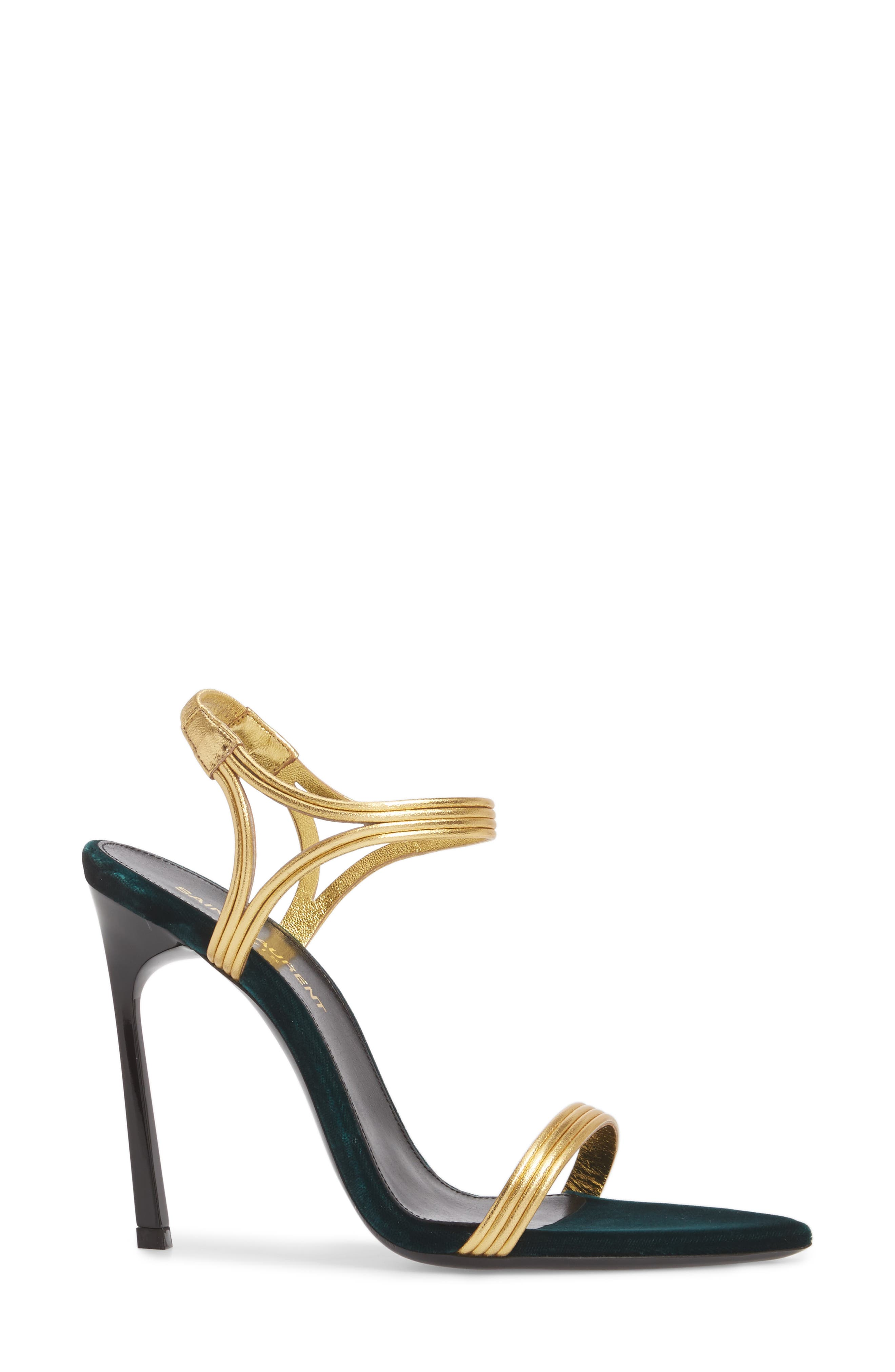 Talitha Sandal,                             Alternate thumbnail 3, color,                             Gold