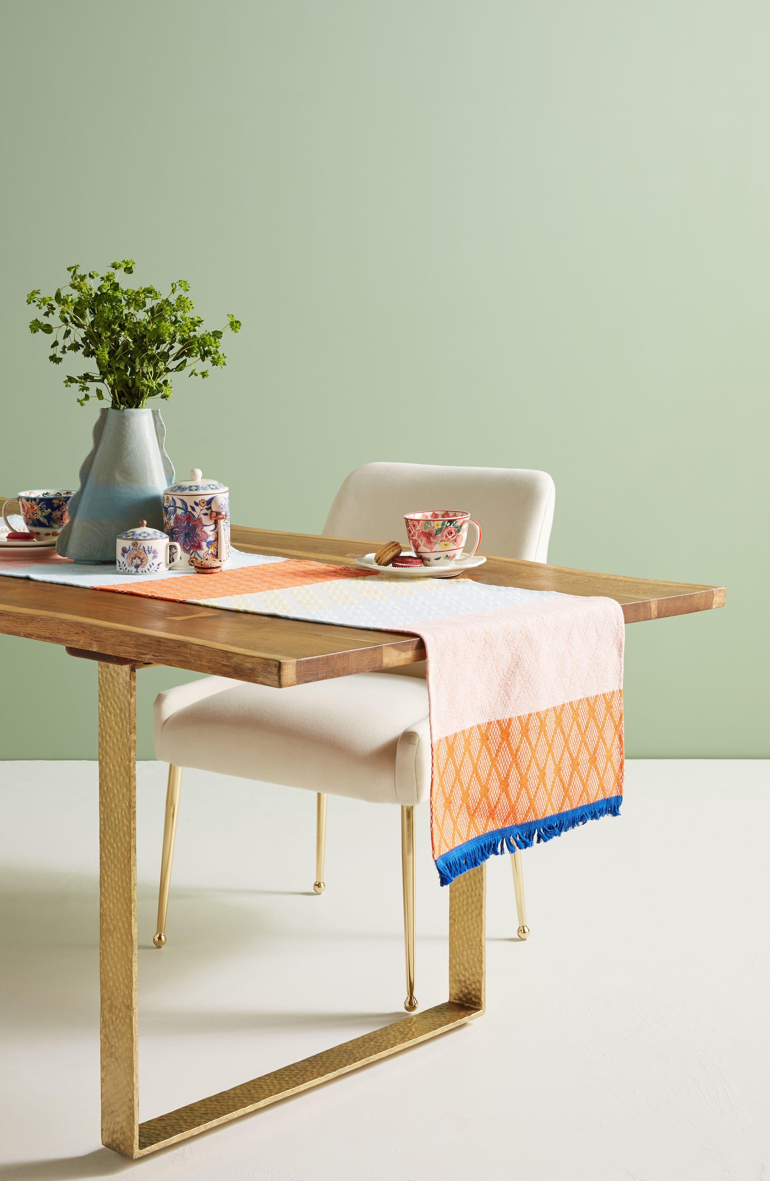 Hermine Van Dijck Jacquard Table Runner,                         Main,                         color, Natural Multi