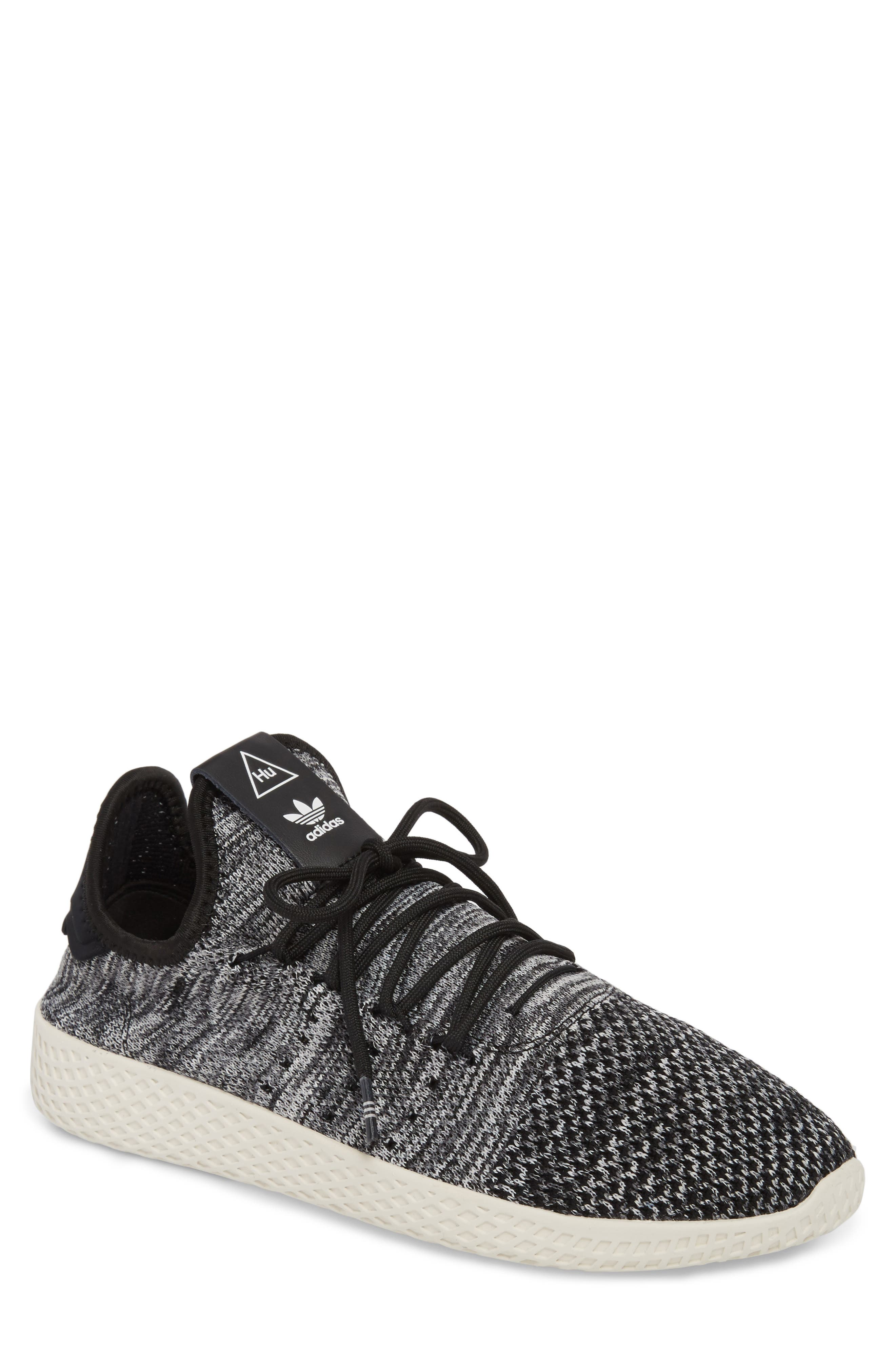 Pharrell Williams Tennis Hu Sneaker,                             Main thumbnail 1, color,                             Chalk White/ Core Black/ White