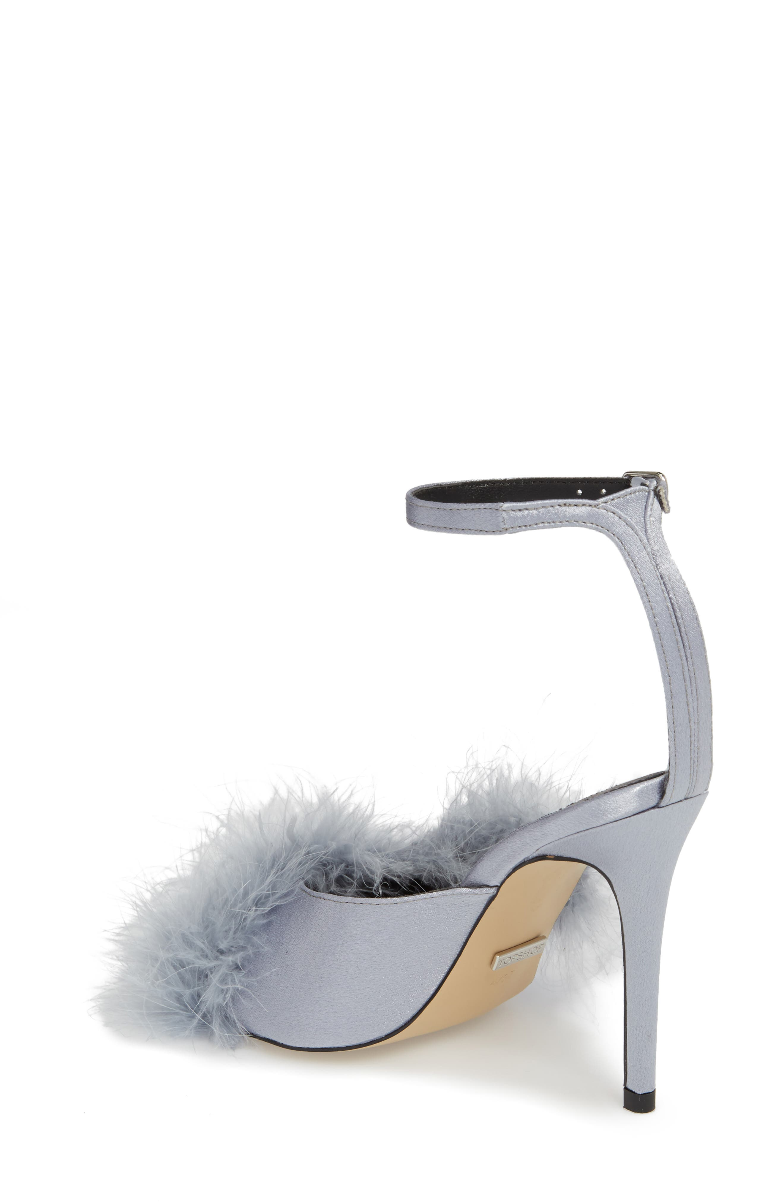 Roar Feather Sandal,                             Alternate thumbnail 2, color,                             Grey