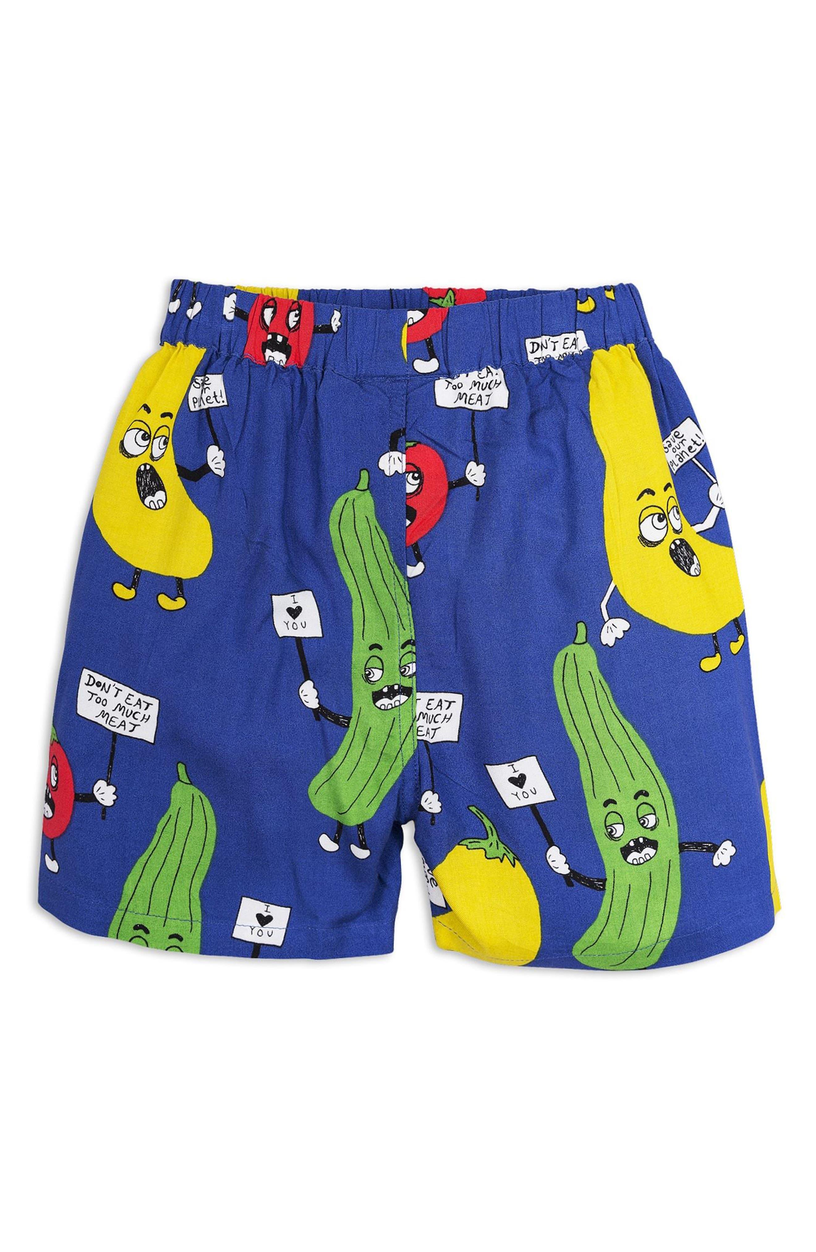 Veggie Woven Shorts,                         Main,                         color, Blue