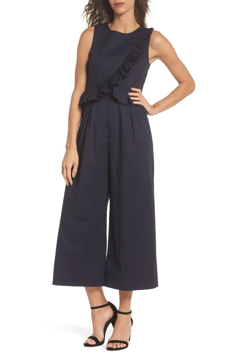 Sleeveless Ruffle Bodice Jumpsuit