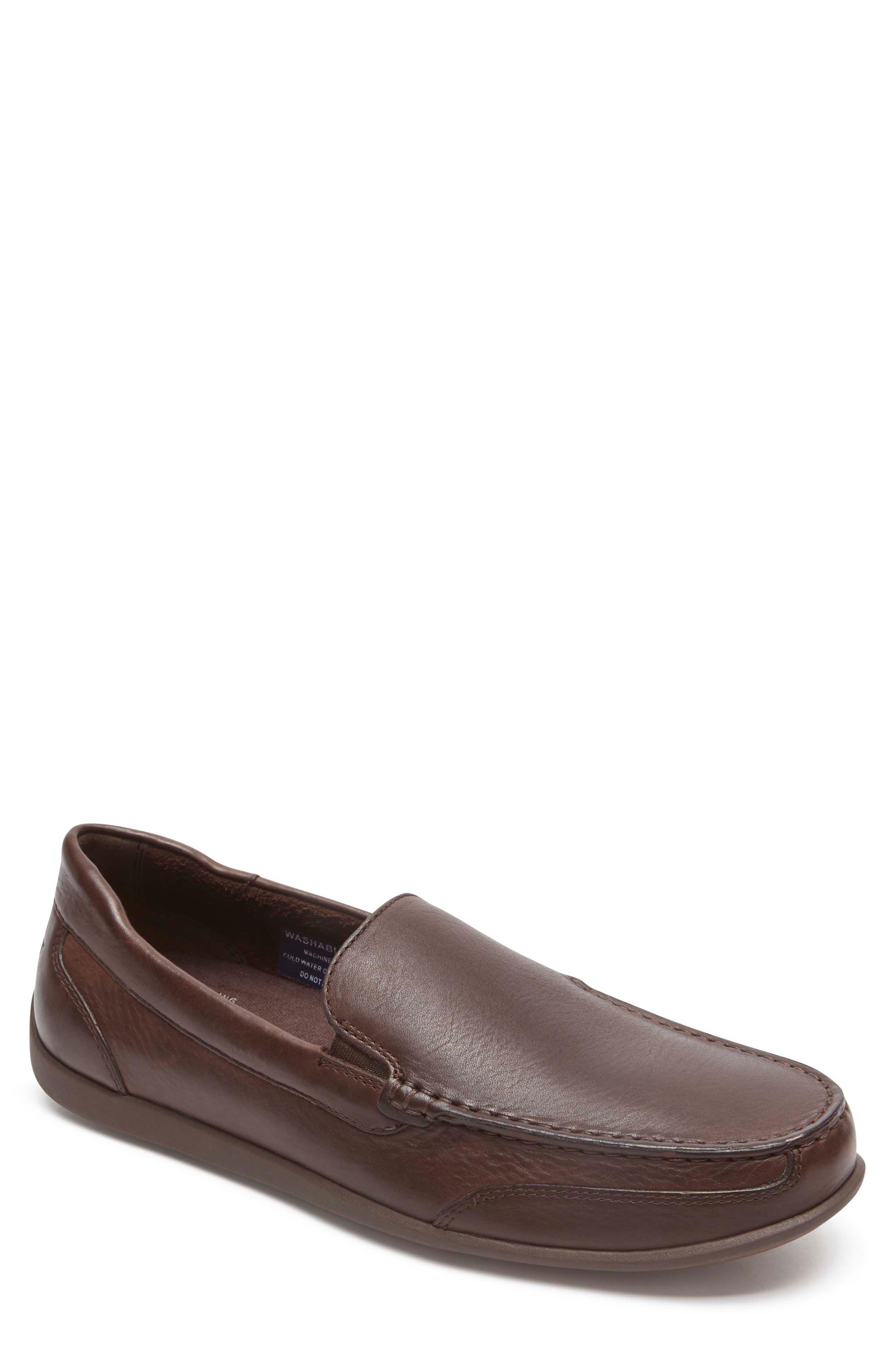 Bennett Lane Slip-On,                             Main thumbnail 1, color,                             Brown Leather