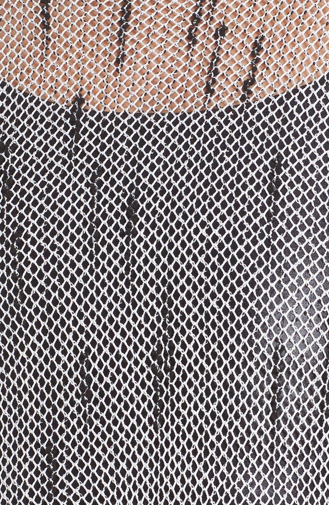 Combination Sports Bra,                             Alternate thumbnail 9, color,                             Black/ Weave