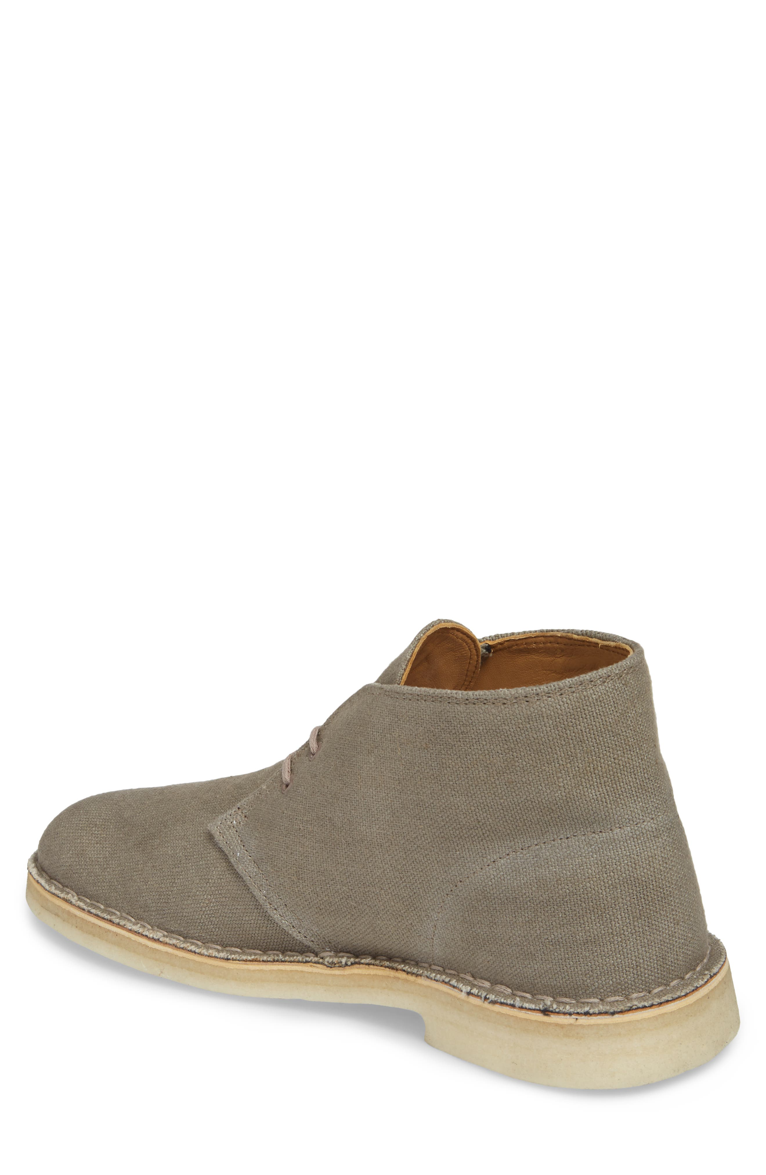 Clarks<sup>®</sup> Desert Chukka Boot,                             Alternate thumbnail 2, color,                             Taupe Canvas