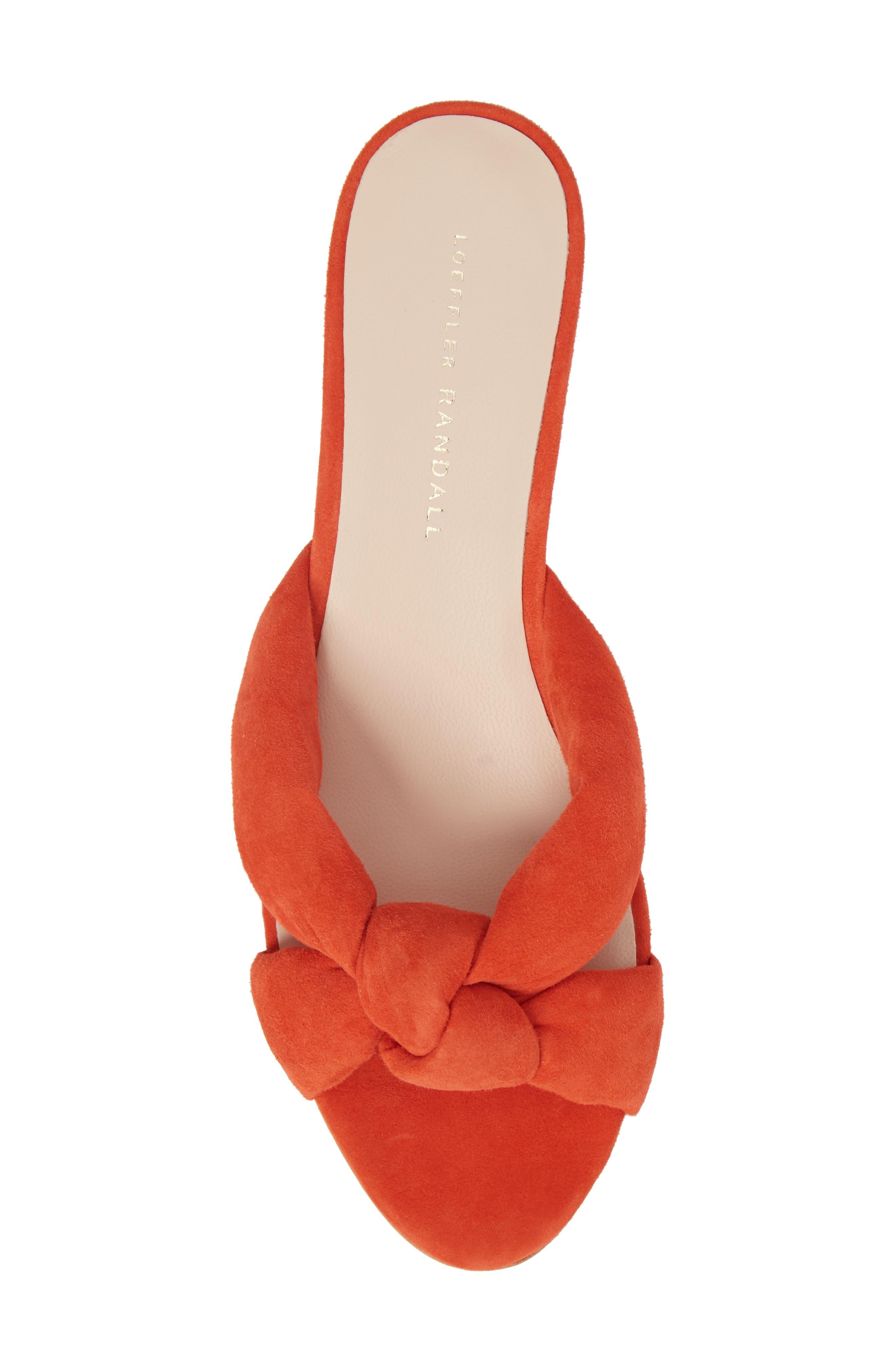 Elsie Knotted Slide Sandal,                             Alternate thumbnail 5, color,                             Persimmon
