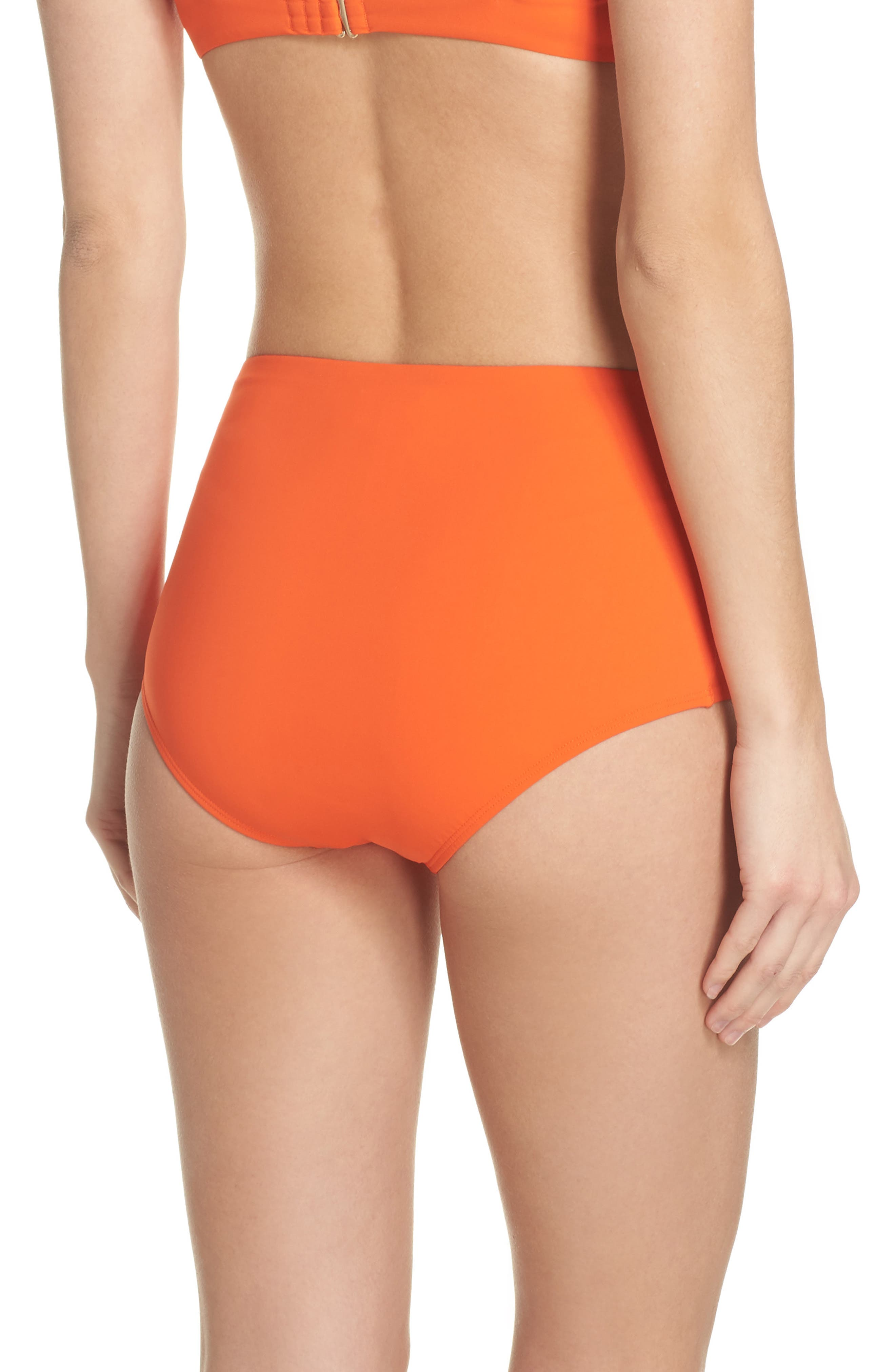 Marina High Waist Bikini Bottoms,                             Alternate thumbnail 2, color,                             Sweet Tangerine