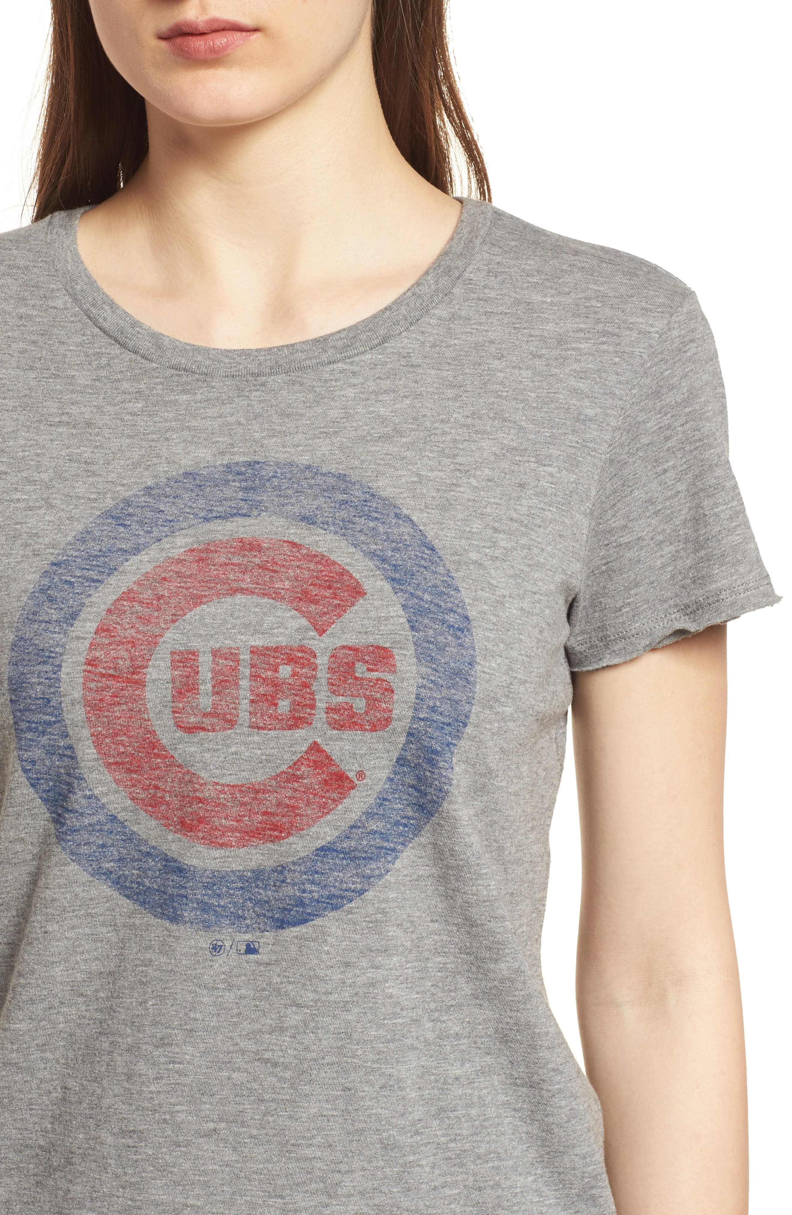 Chicago Cubs Fader Letter Tee,                             Alternate thumbnail 4, color,                             Slate Grey
