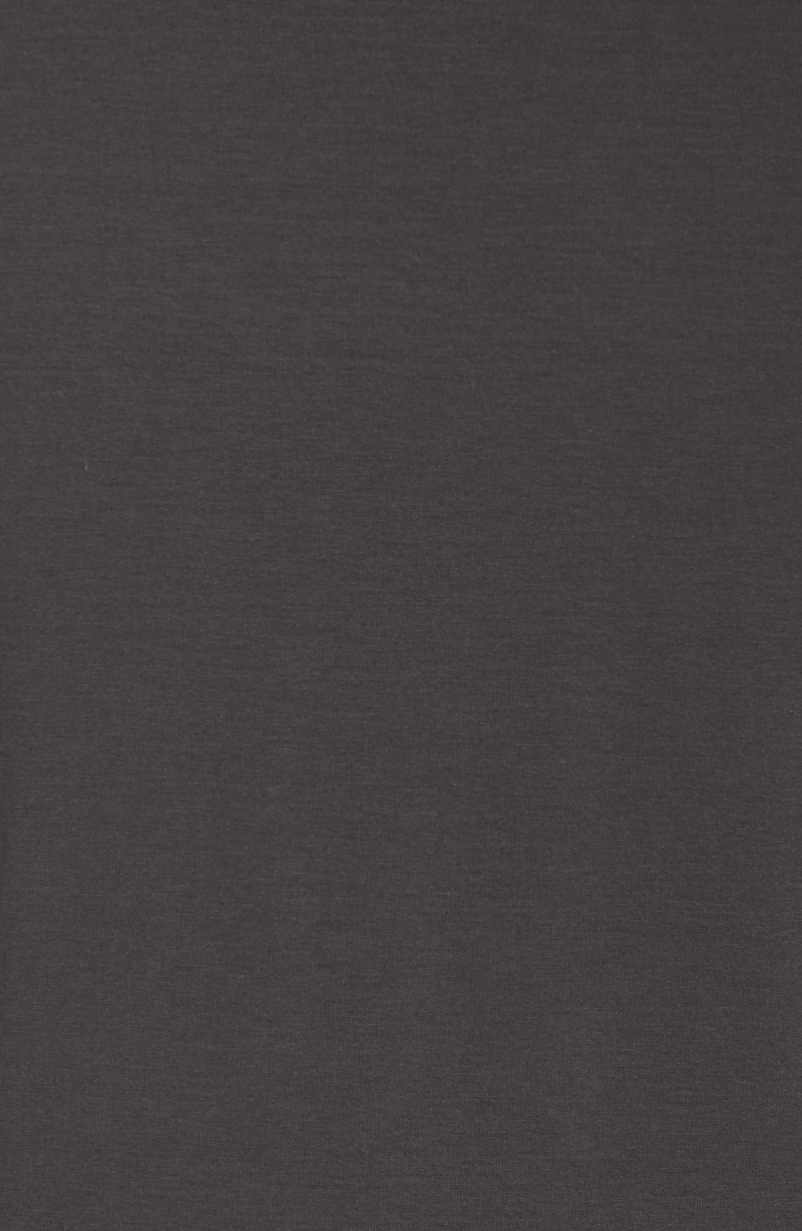 Scoop Neck Jersey Dress,                             Alternate thumbnail 5, color,                             Graphite