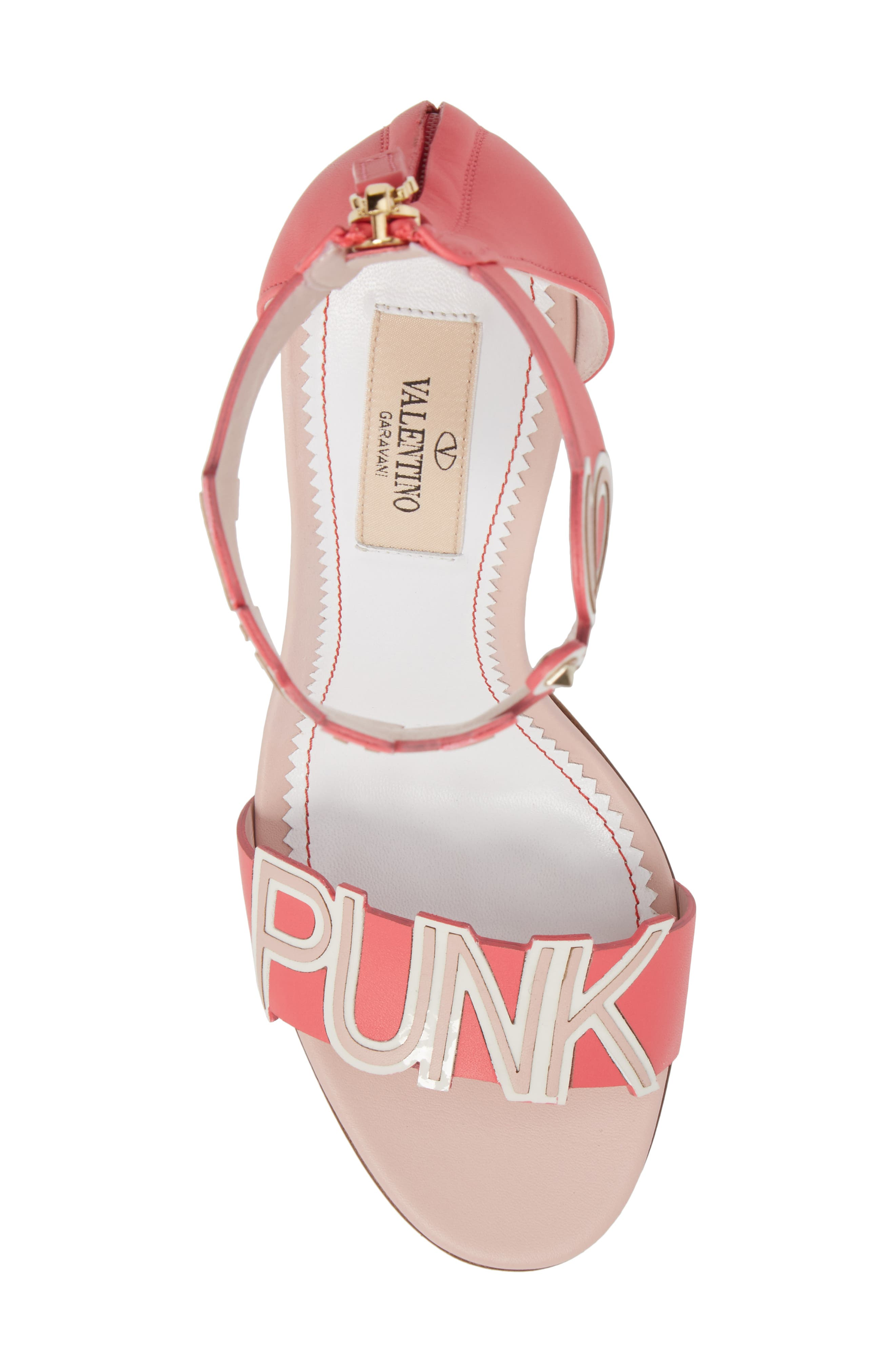Pink Is Punk Ankle Strap Sandal,                             Alternate thumbnail 5, color,                             Shadow Pink