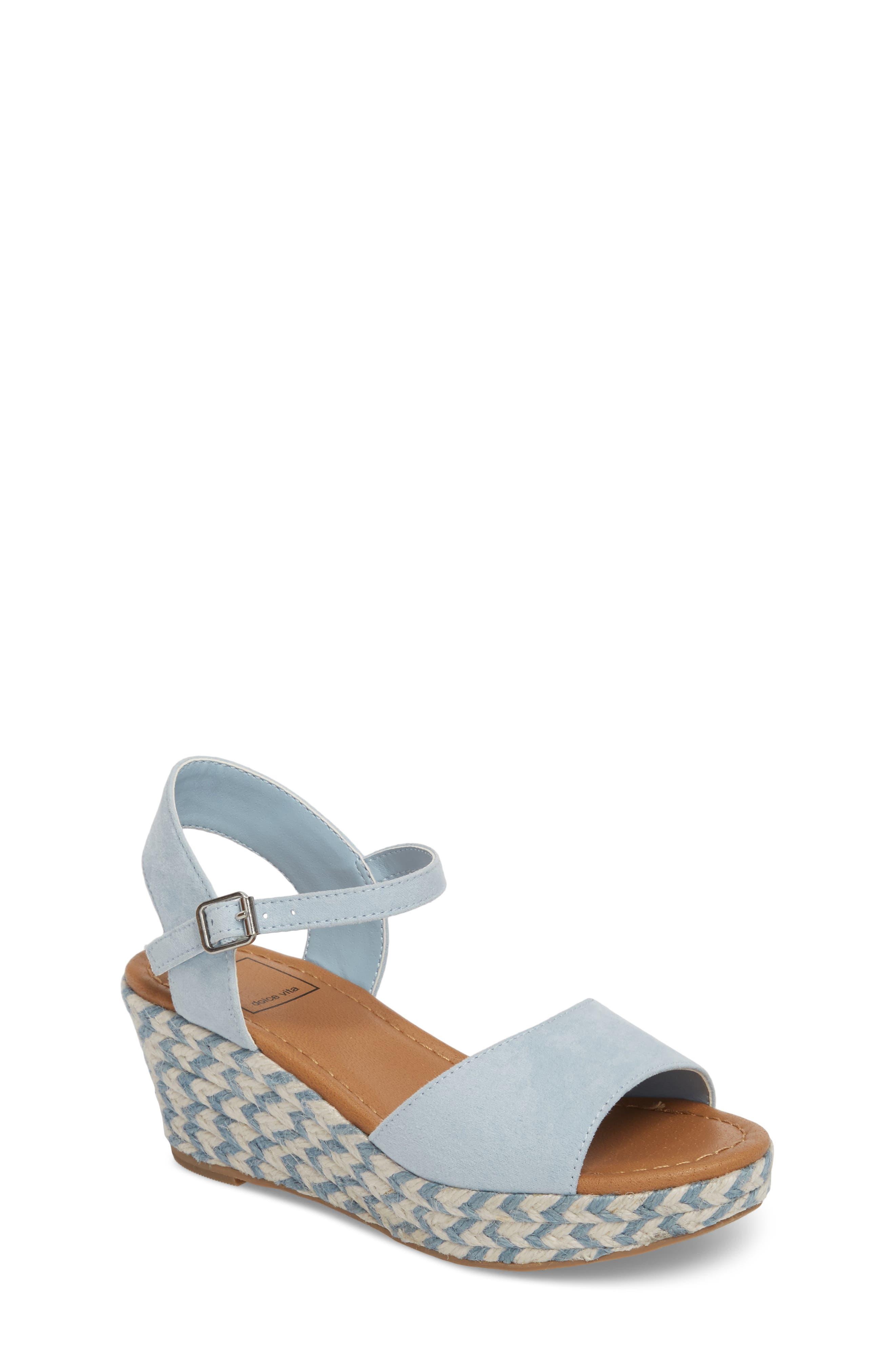 Wendy Espadrille Wedge Sandal,                         Main,                         color, Light Blue