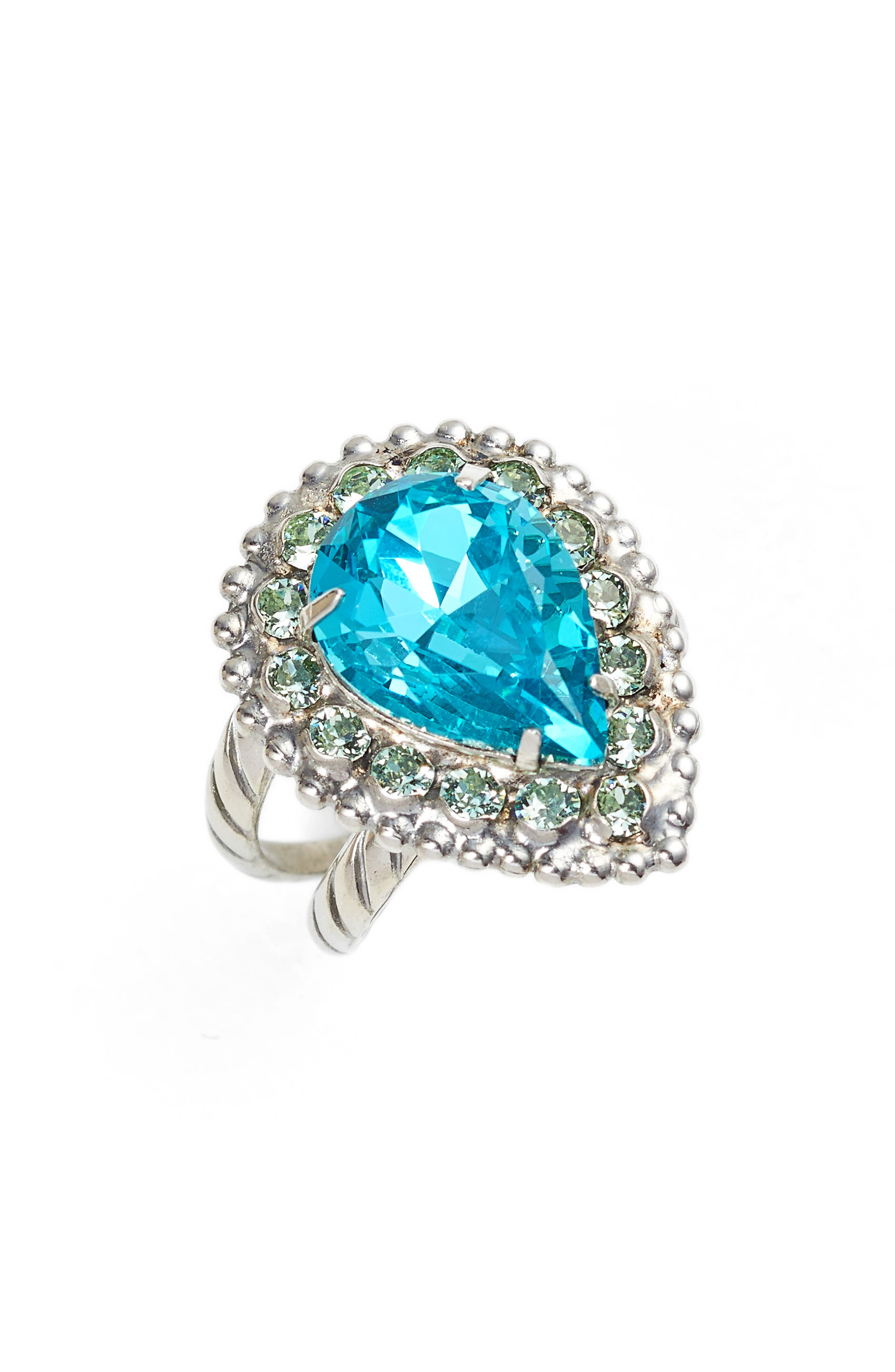 Arum Ring,                             Main thumbnail 1, color,                             Aqua/ Green