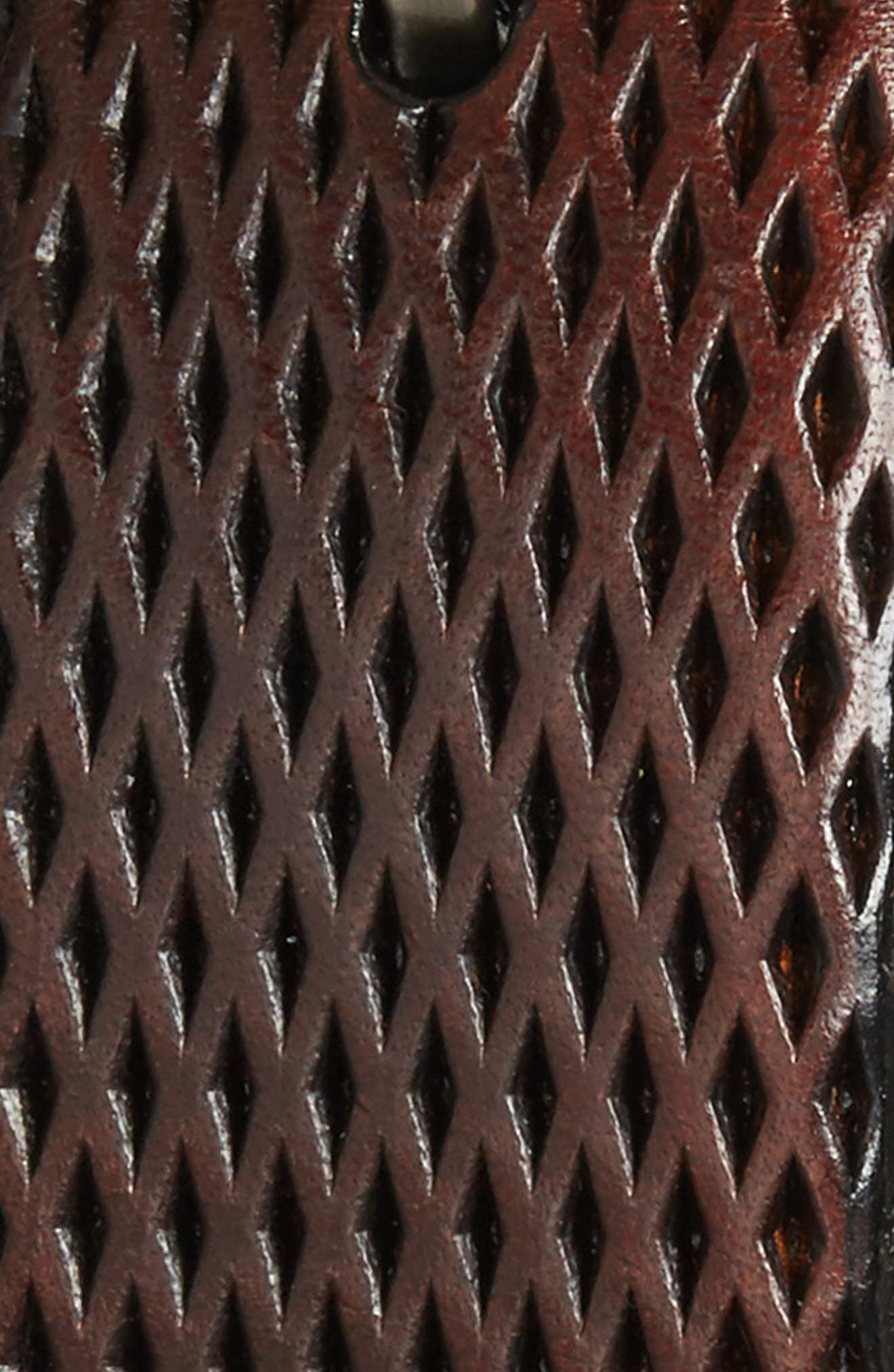 Embossed Leather Belt,                             Alternate thumbnail 2, color,                             Mahogany