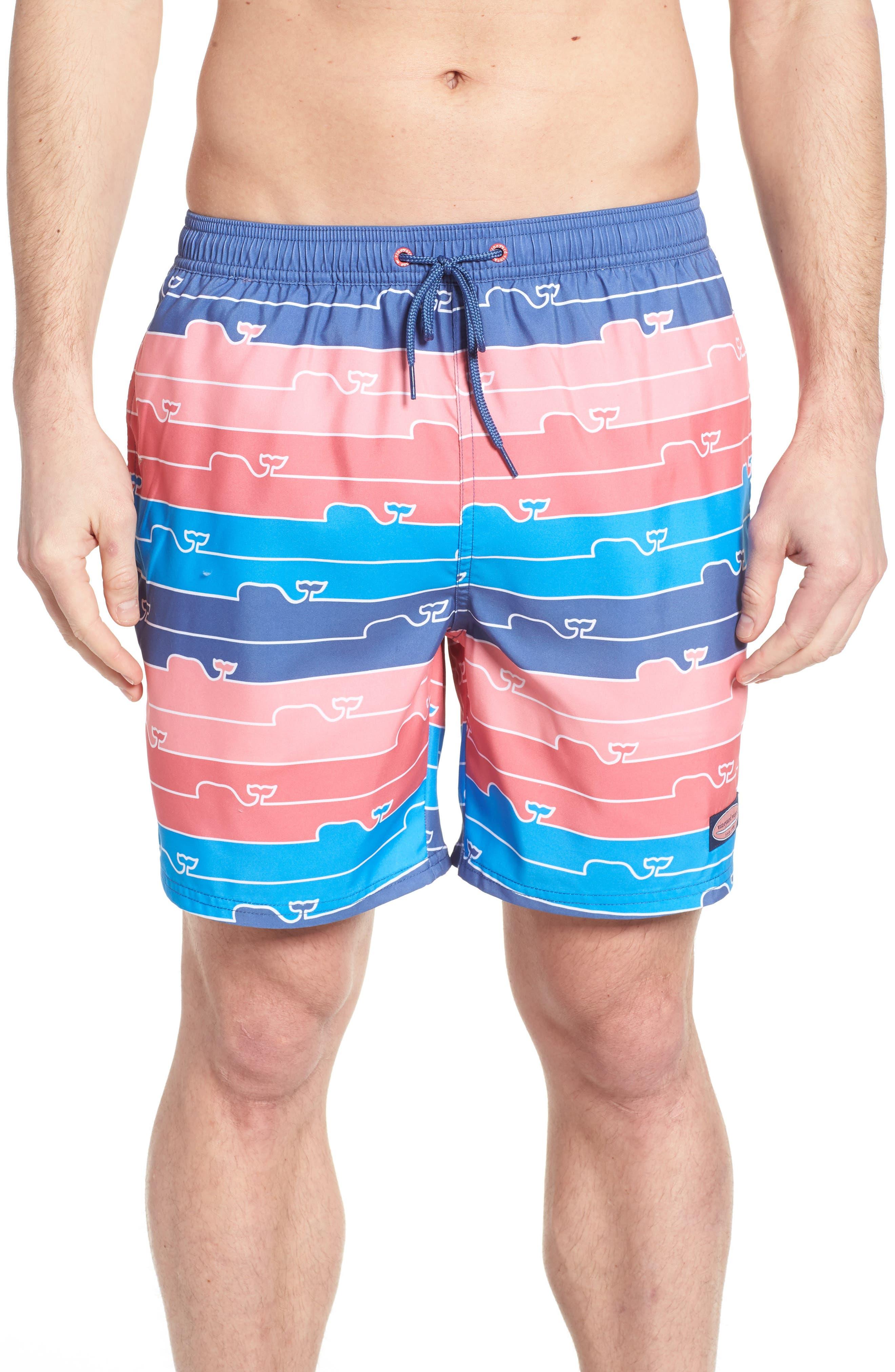 Chappy Whaleline Swim Trunks,                         Main,                         color, Moonshine