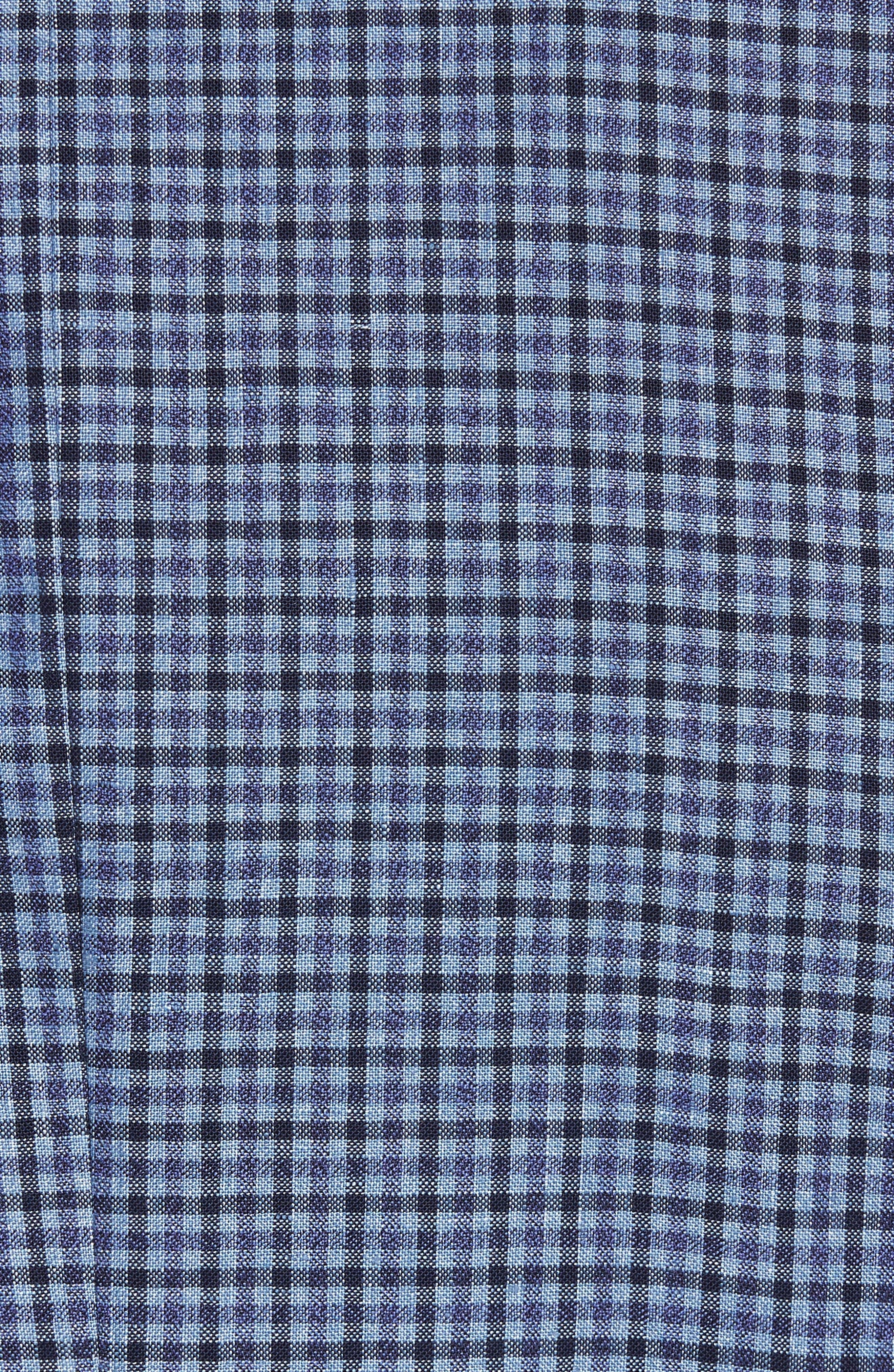 Jay Trim Fit Check Wool & Linen Sport Coat,                             Alternate thumbnail 5, color,                             Blue