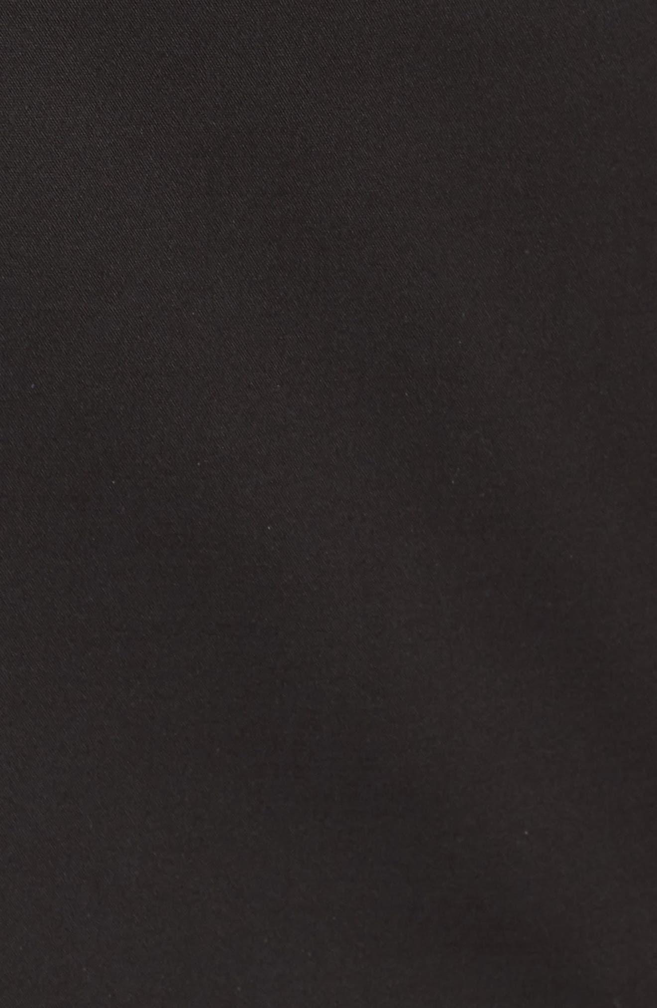 Lace-Up Back Blazer,                             Alternate thumbnail 6, color,                             Rich Black