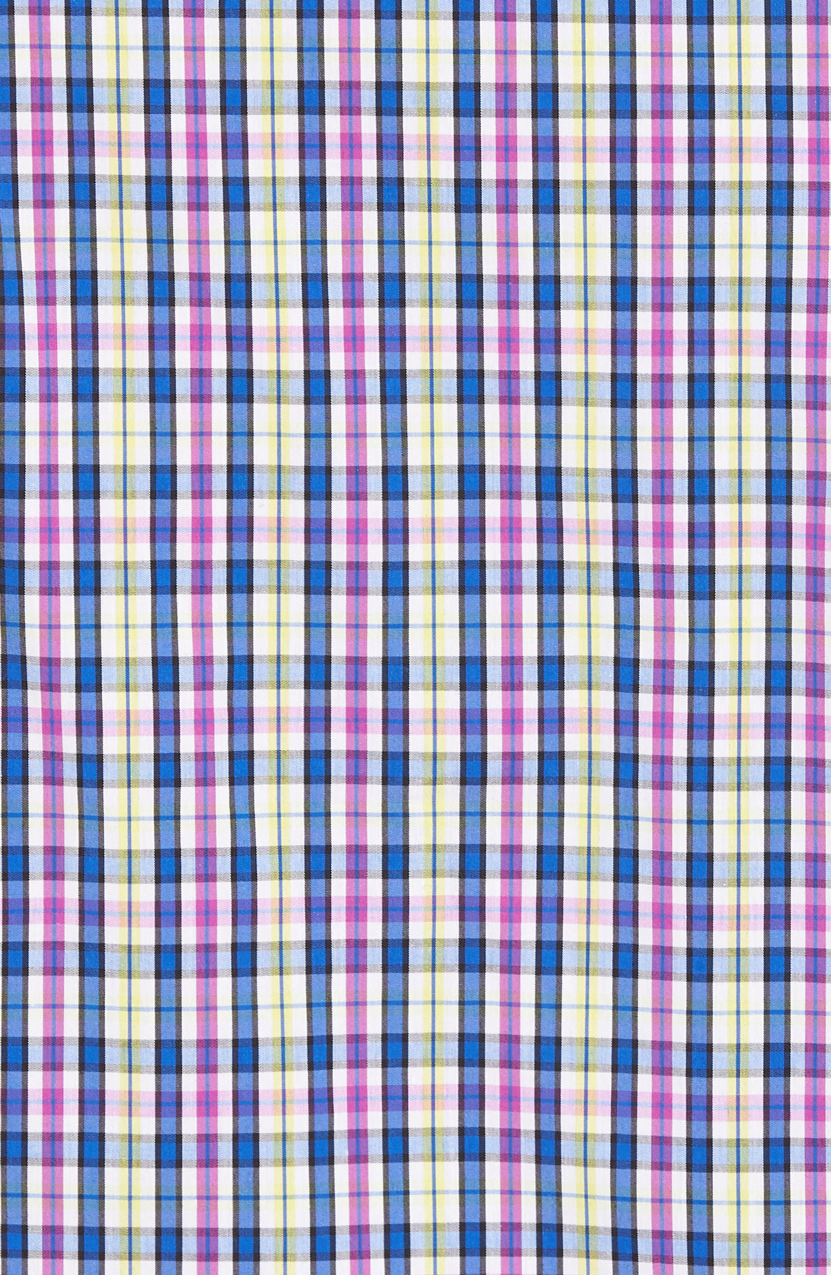 Anthony Plaid Performance Sport Shirt,                             Alternate thumbnail 5, color,                             Limelight