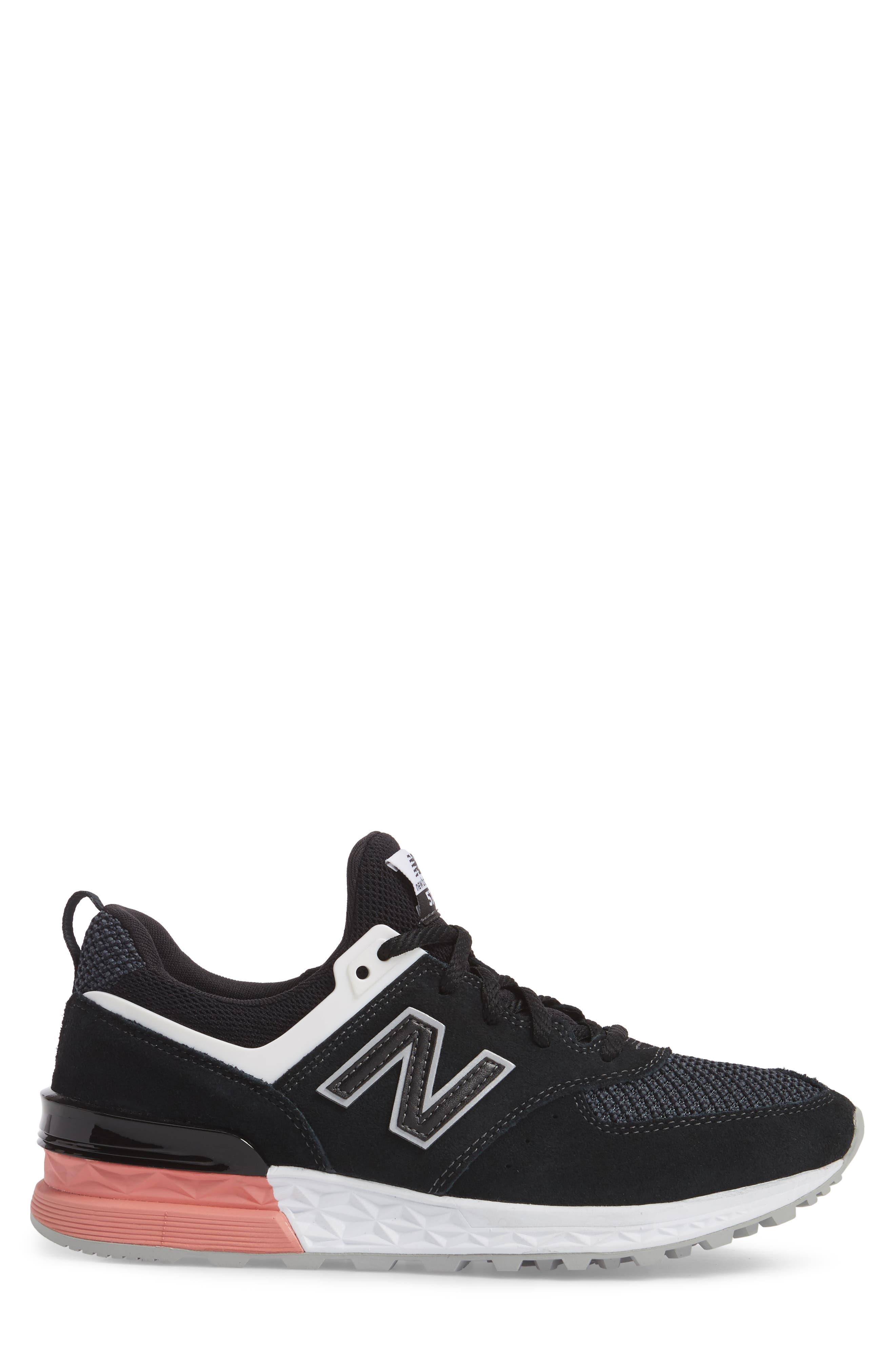 574 T3 Sport Sneaker,                             Alternate thumbnail 3, color,                             Black