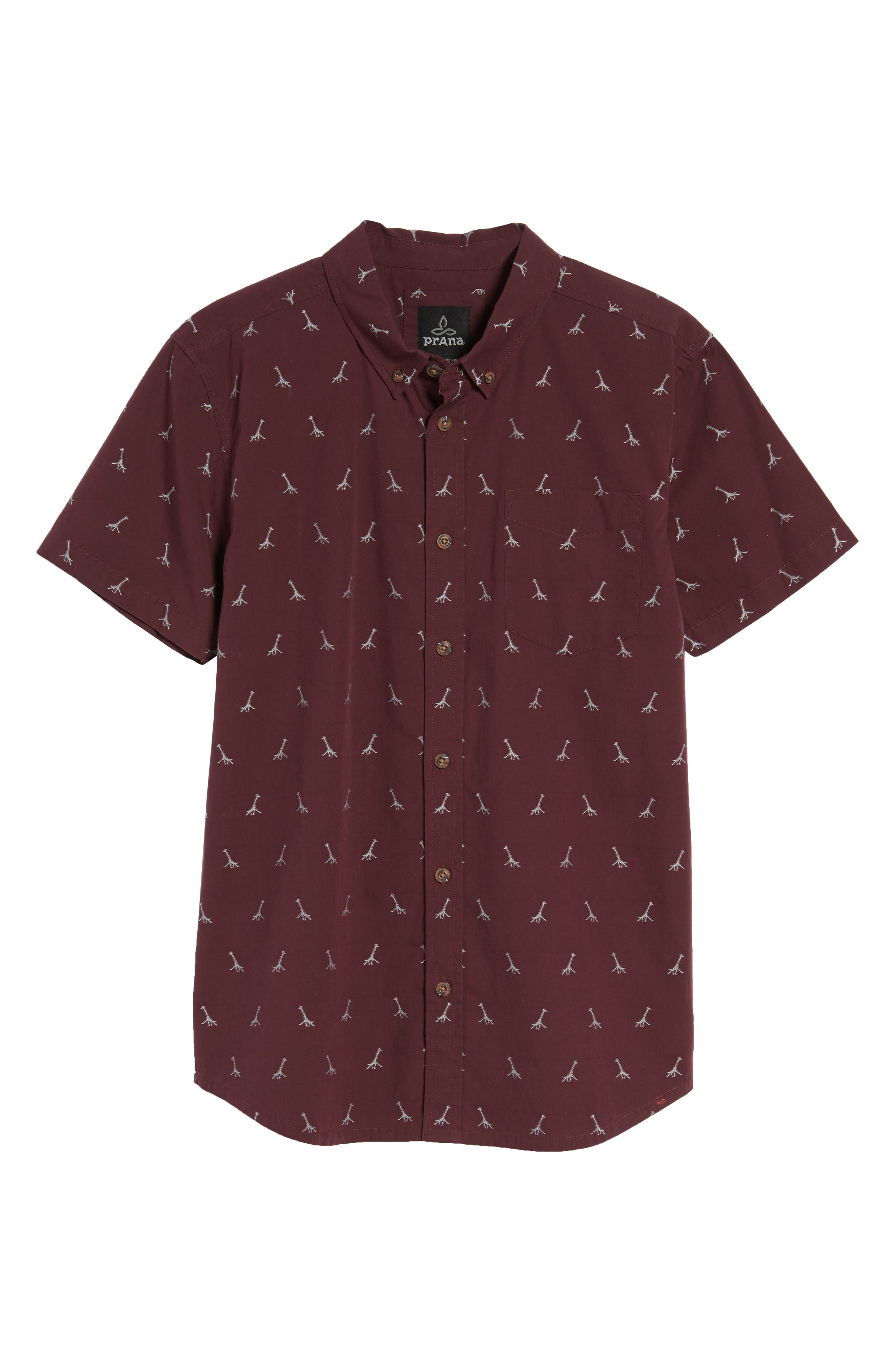 Broderick Slim Fit Short Sleeve Sport Shirt,                             Alternate thumbnail 6, color,                             Thistle