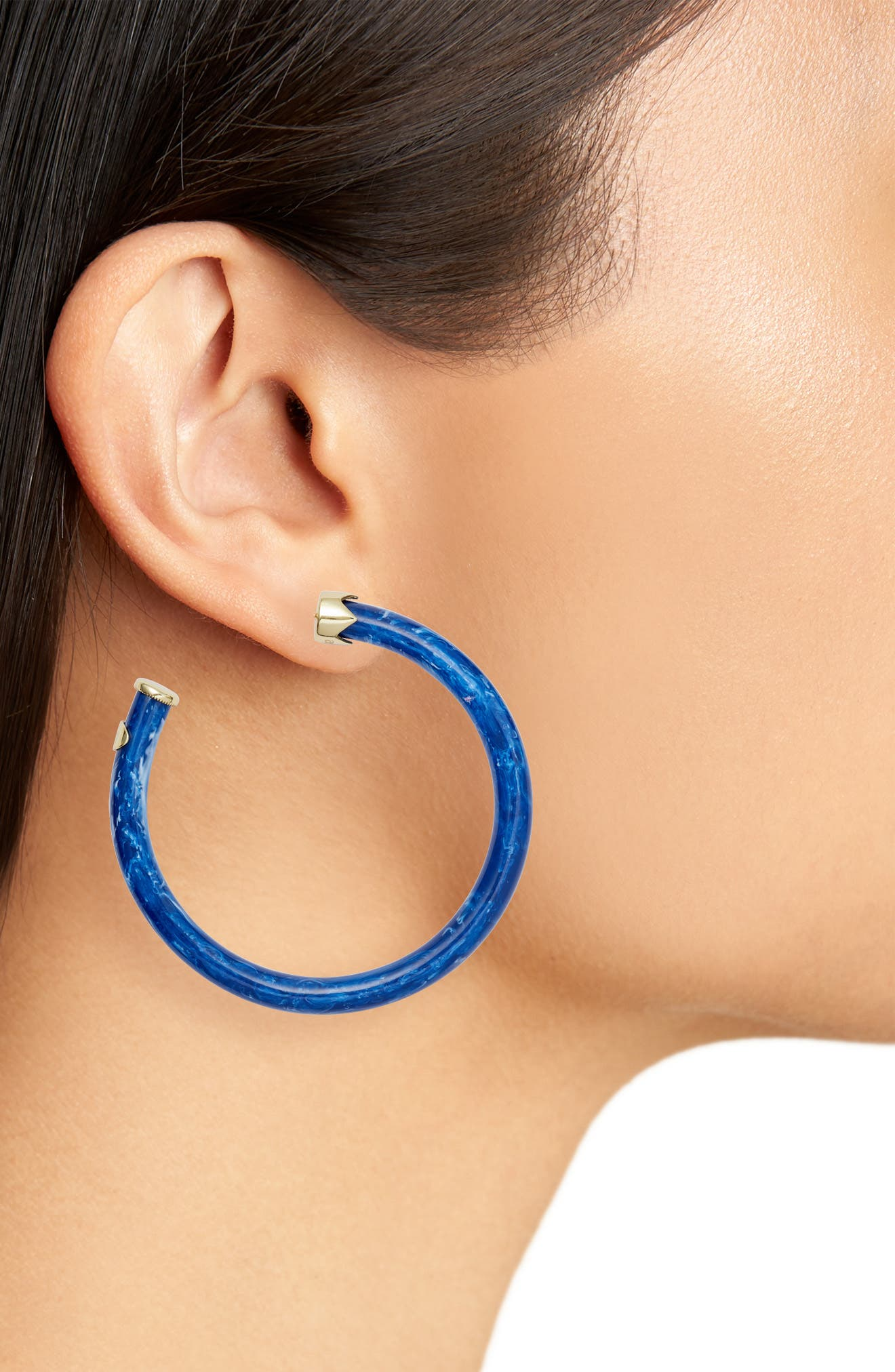Alternate Image 2  - Argento Vivo Marbleized Hoop Earrings
