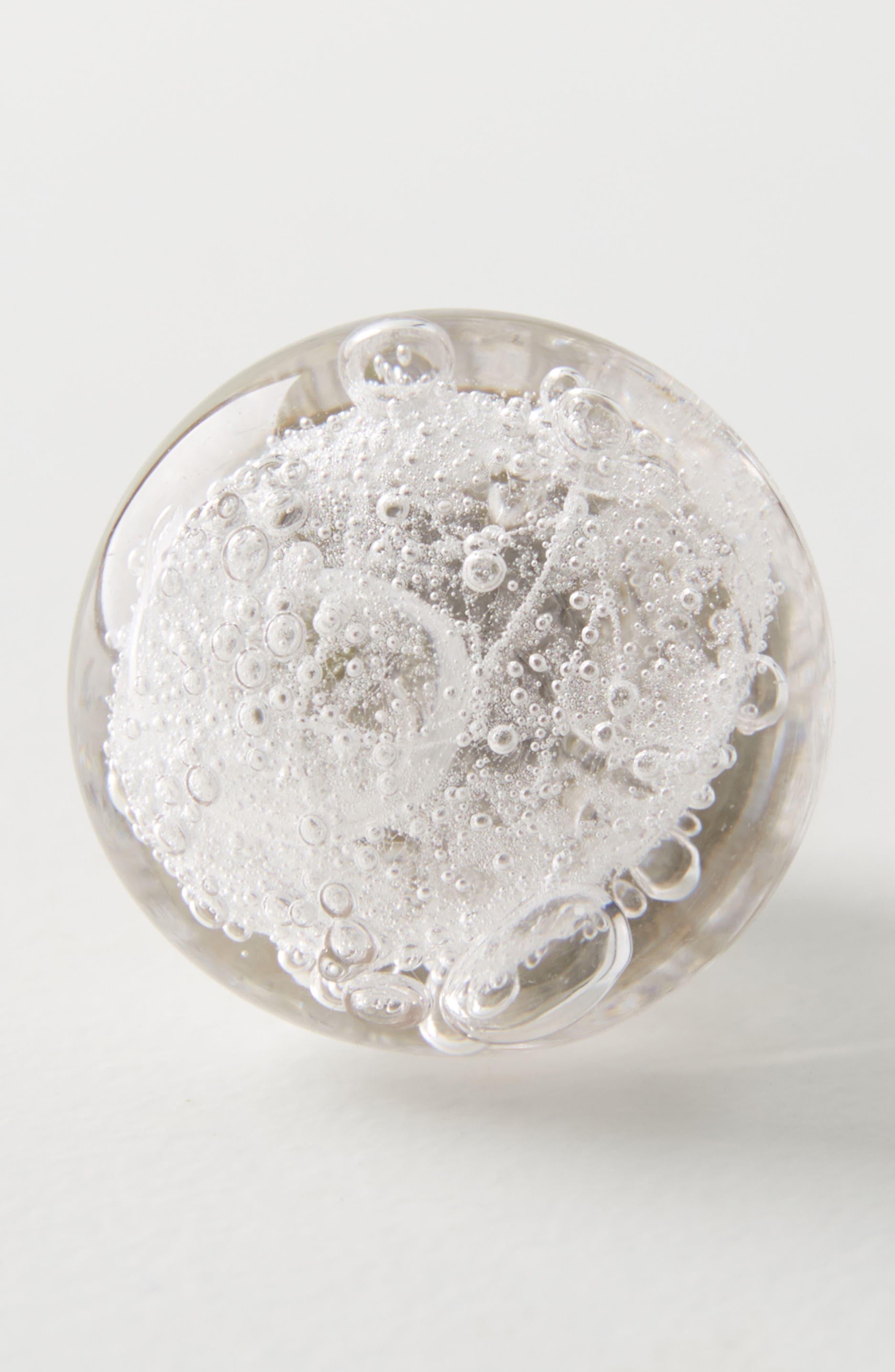 Glass Bubble Knob,                             Main thumbnail 1, color,                             Clear
