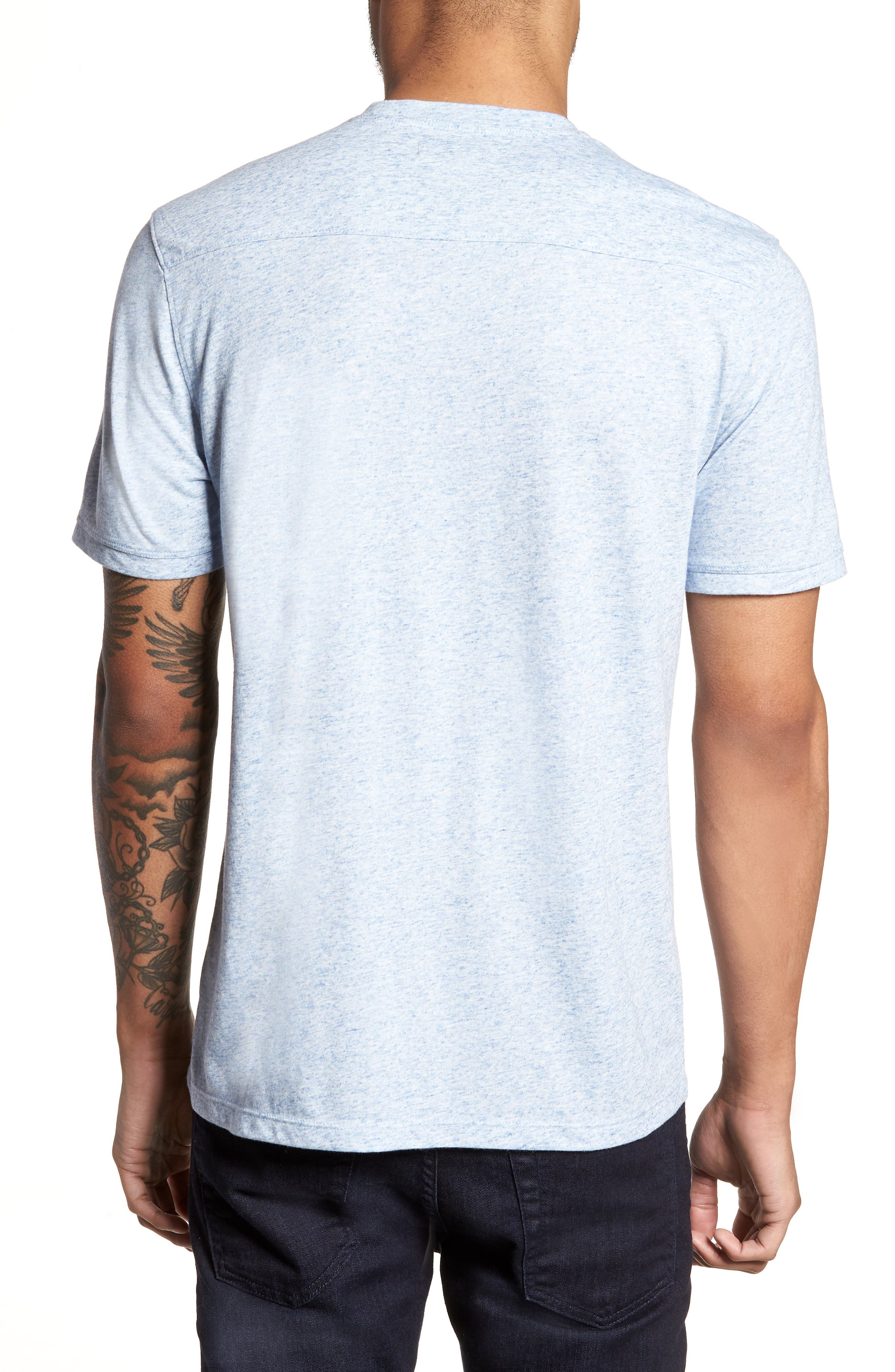 Crewneck T-Shirt,                             Alternate thumbnail 2, color,                             Blue Lake Heather