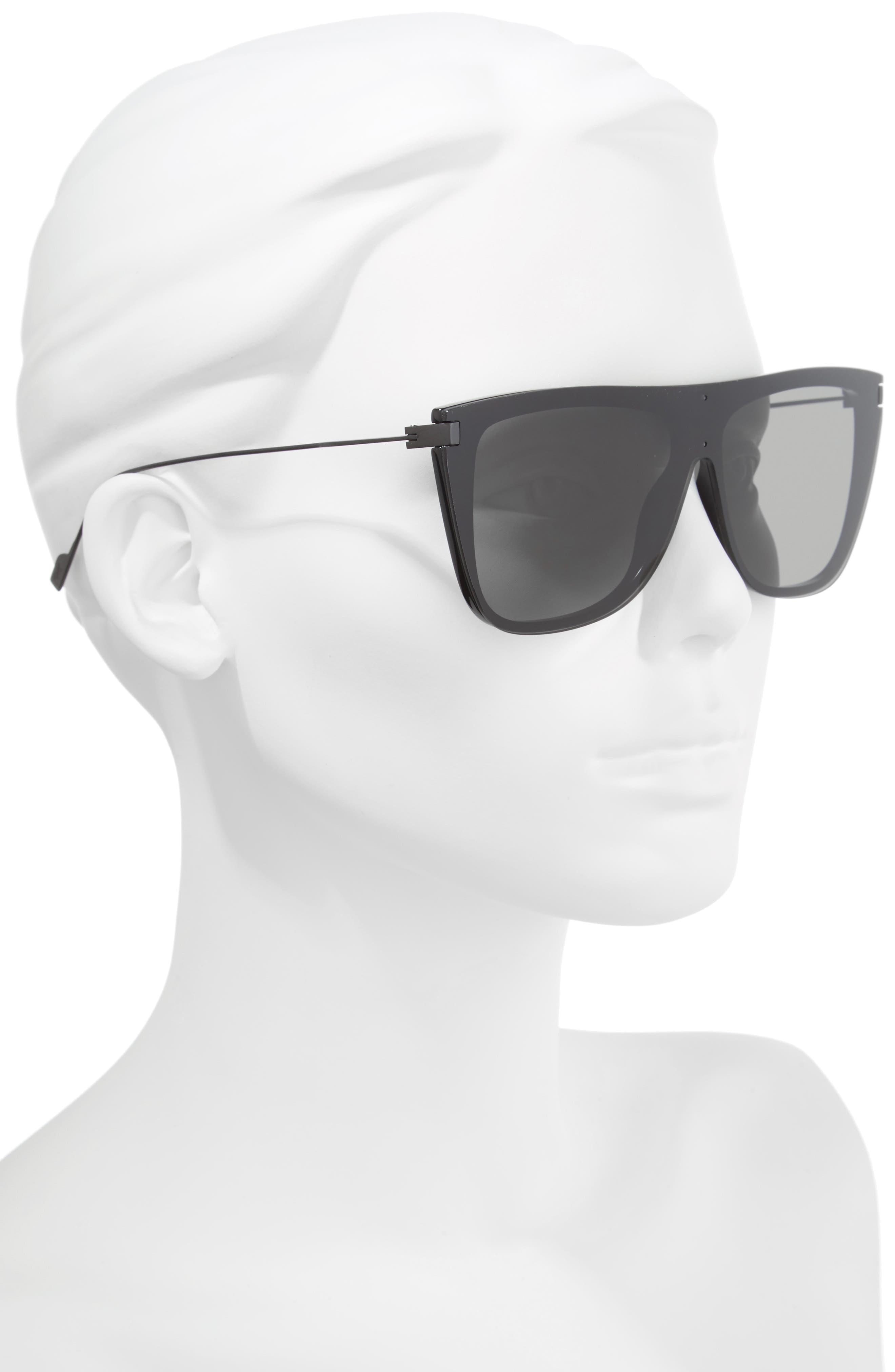 99mm Shield Sunglasses,                             Alternate thumbnail 2, color,                             Black