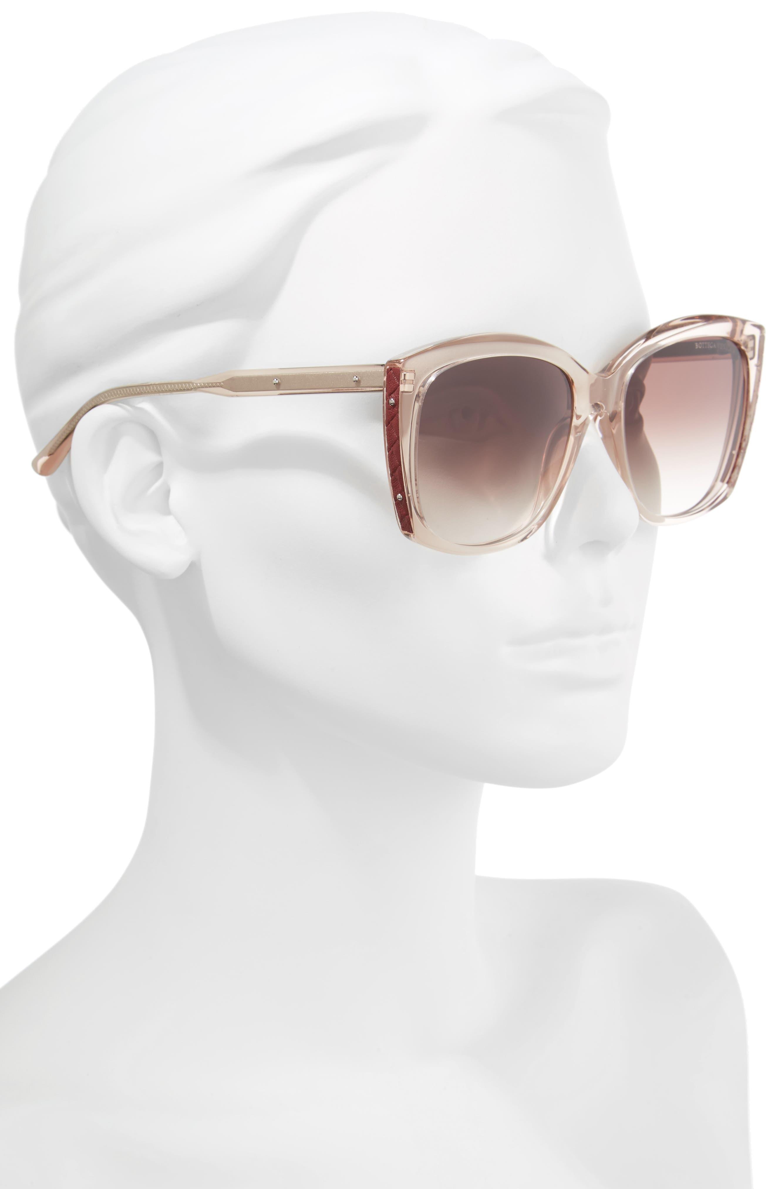 55mm Cat Eye Sunglasses,                             Alternate thumbnail 2, color,                             Pink