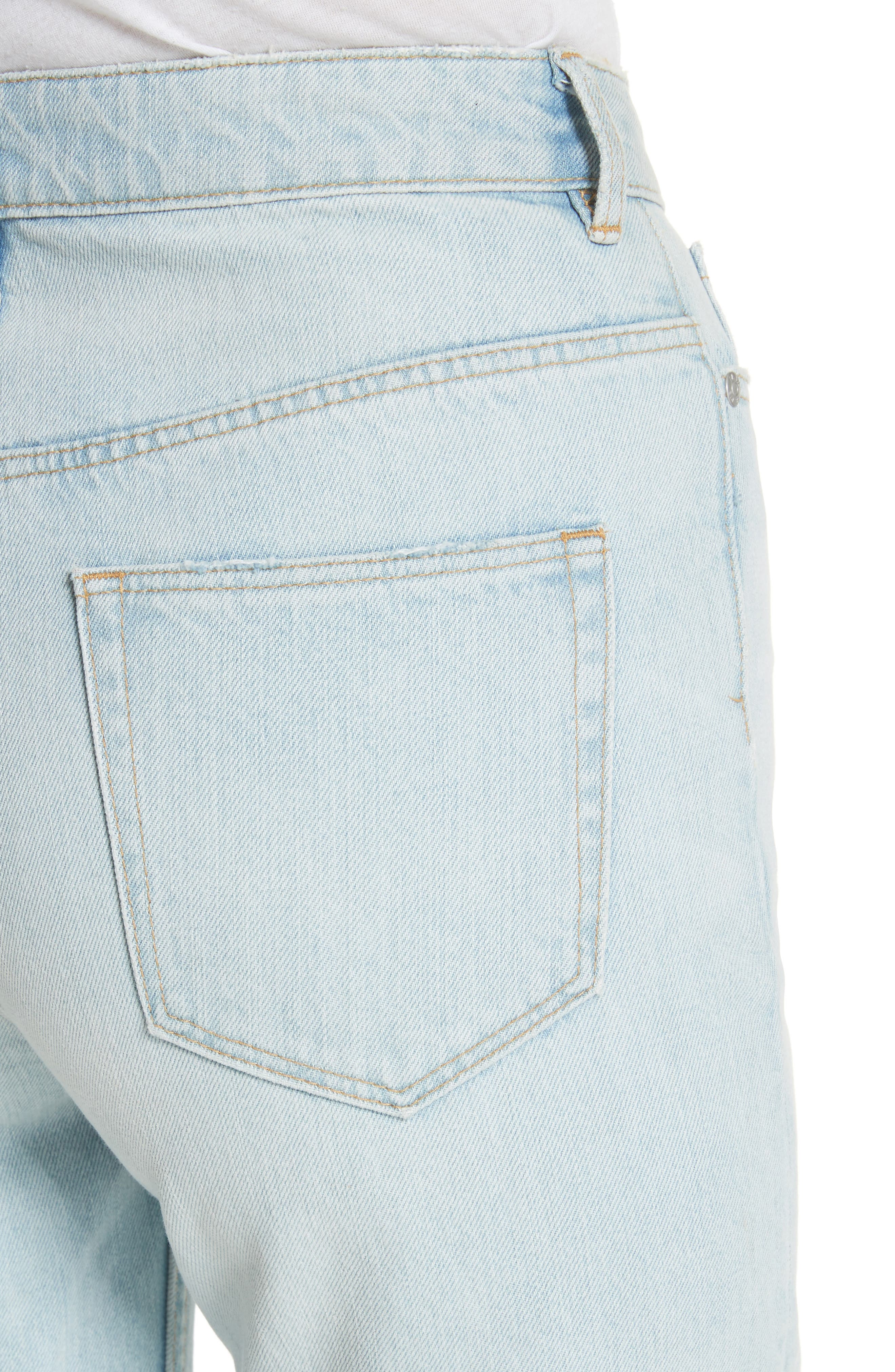 Tapered Jeans,                             Alternate thumbnail 4, color,                             Pale Blue Wash