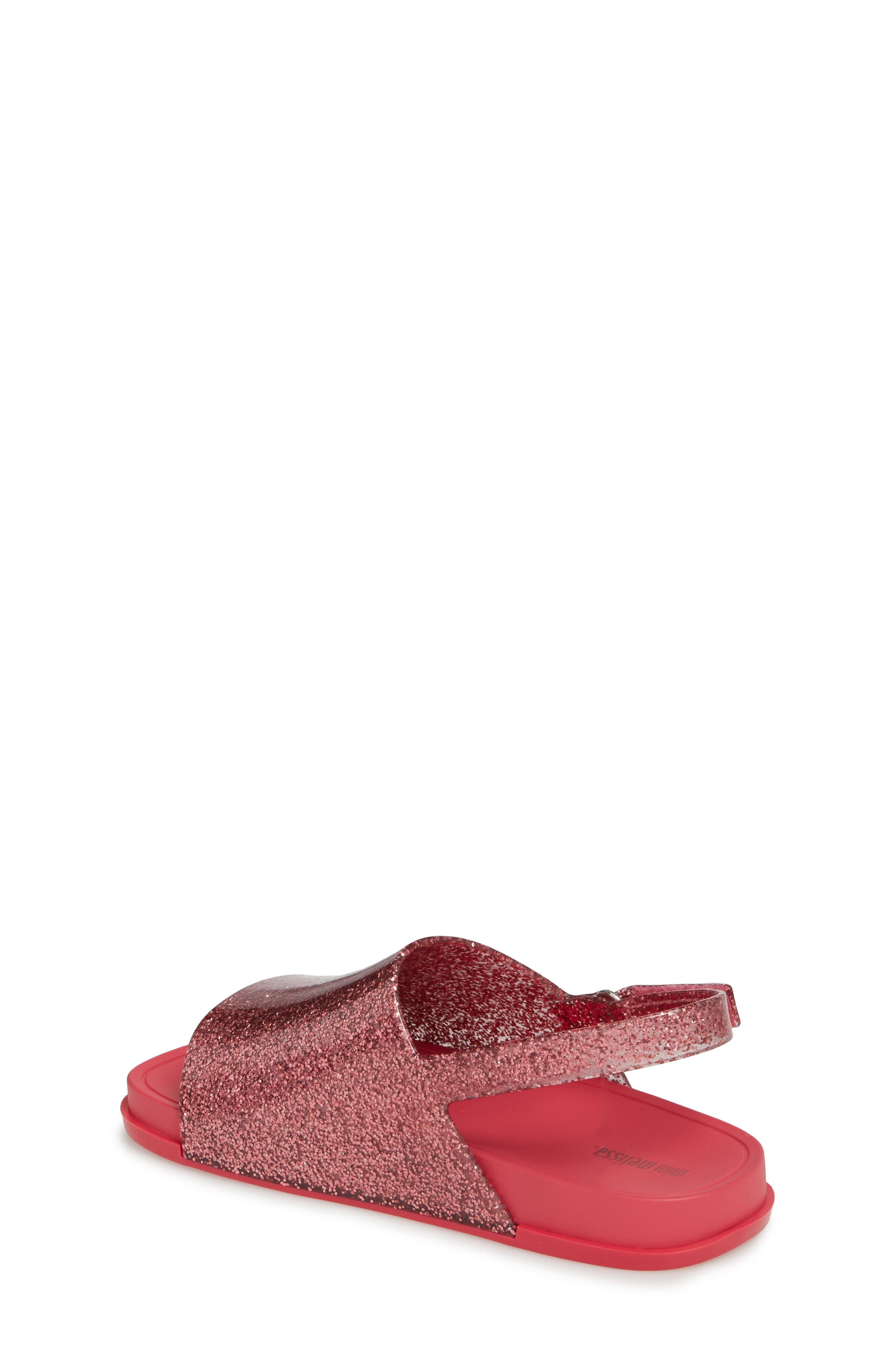 Mini Beach Sandal,                             Alternate thumbnail 2, color,                             Pink Glitter