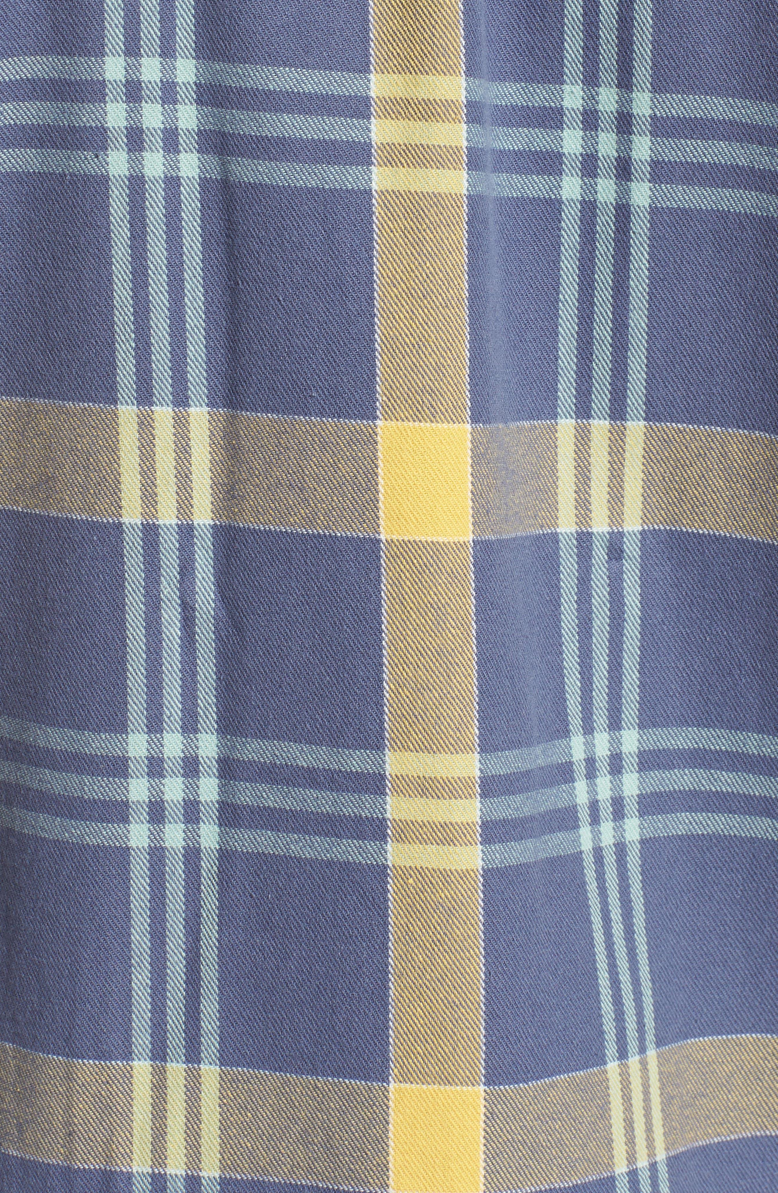 Beach Shack Twill Shirt,                             Alternate thumbnail 5, color,                             65310 Indigo/Orche Plaid