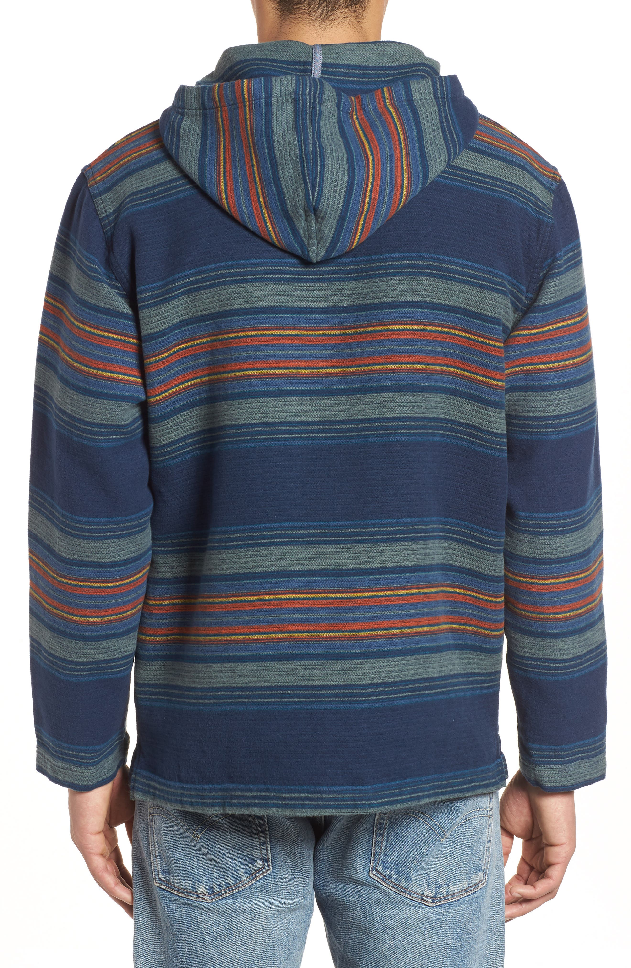 Serape Stripe Hoodie,                             Alternate thumbnail 2, color,                             Blue/ Green Stripe