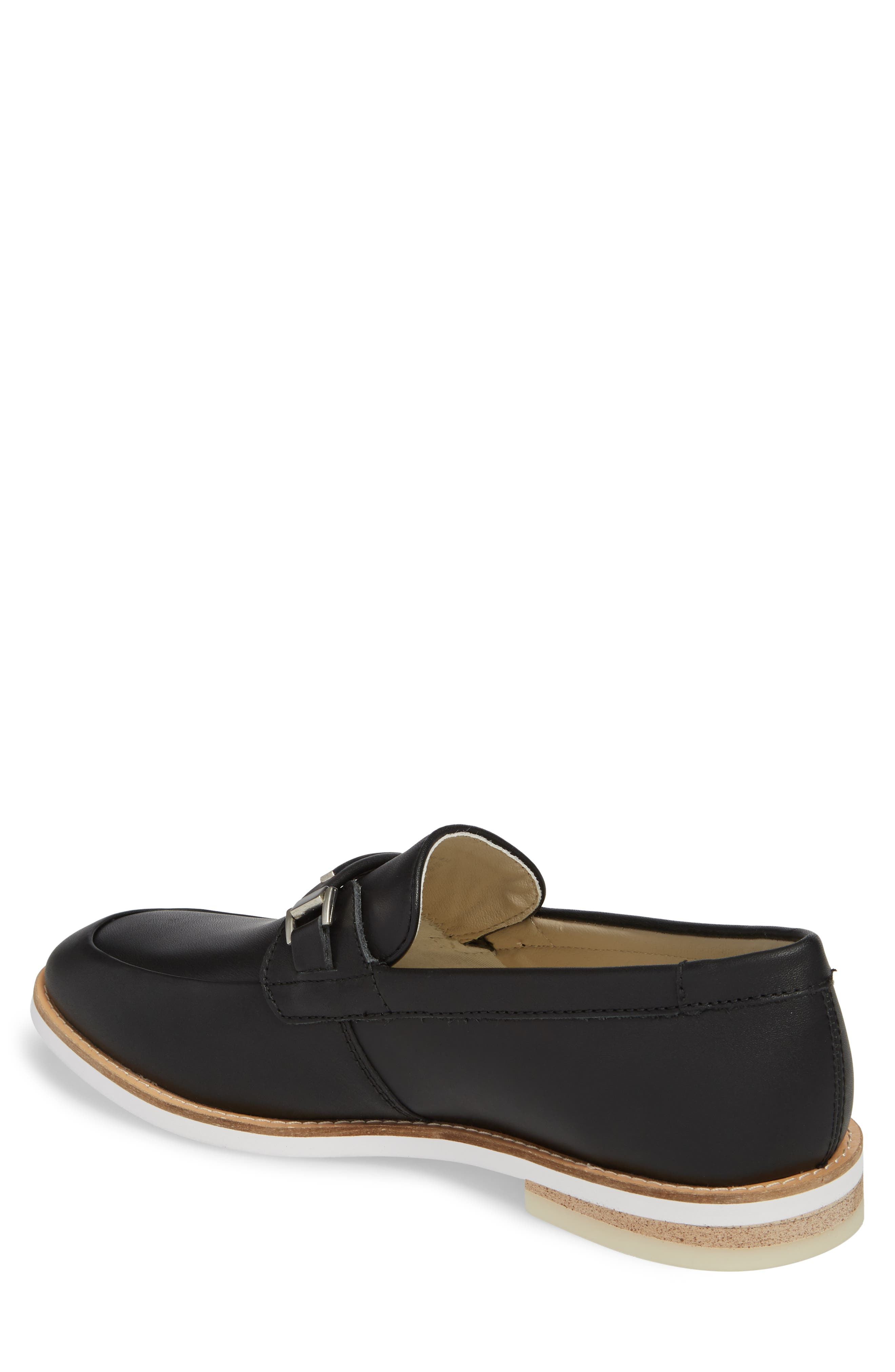 Adler Bit Loafer,                             Alternate thumbnail 2, color,                             Black Leather