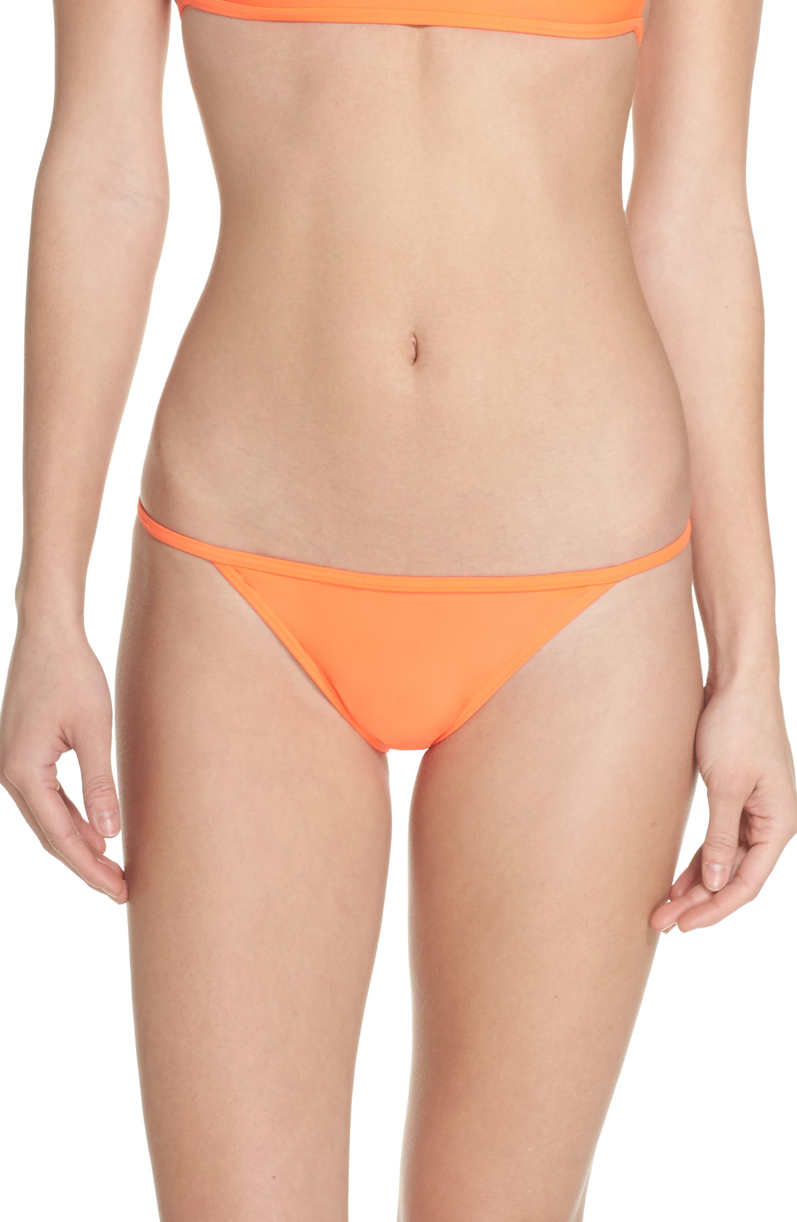 Cusp Bikini Bottoms,                         Main,                         color, Neon Lava Orange