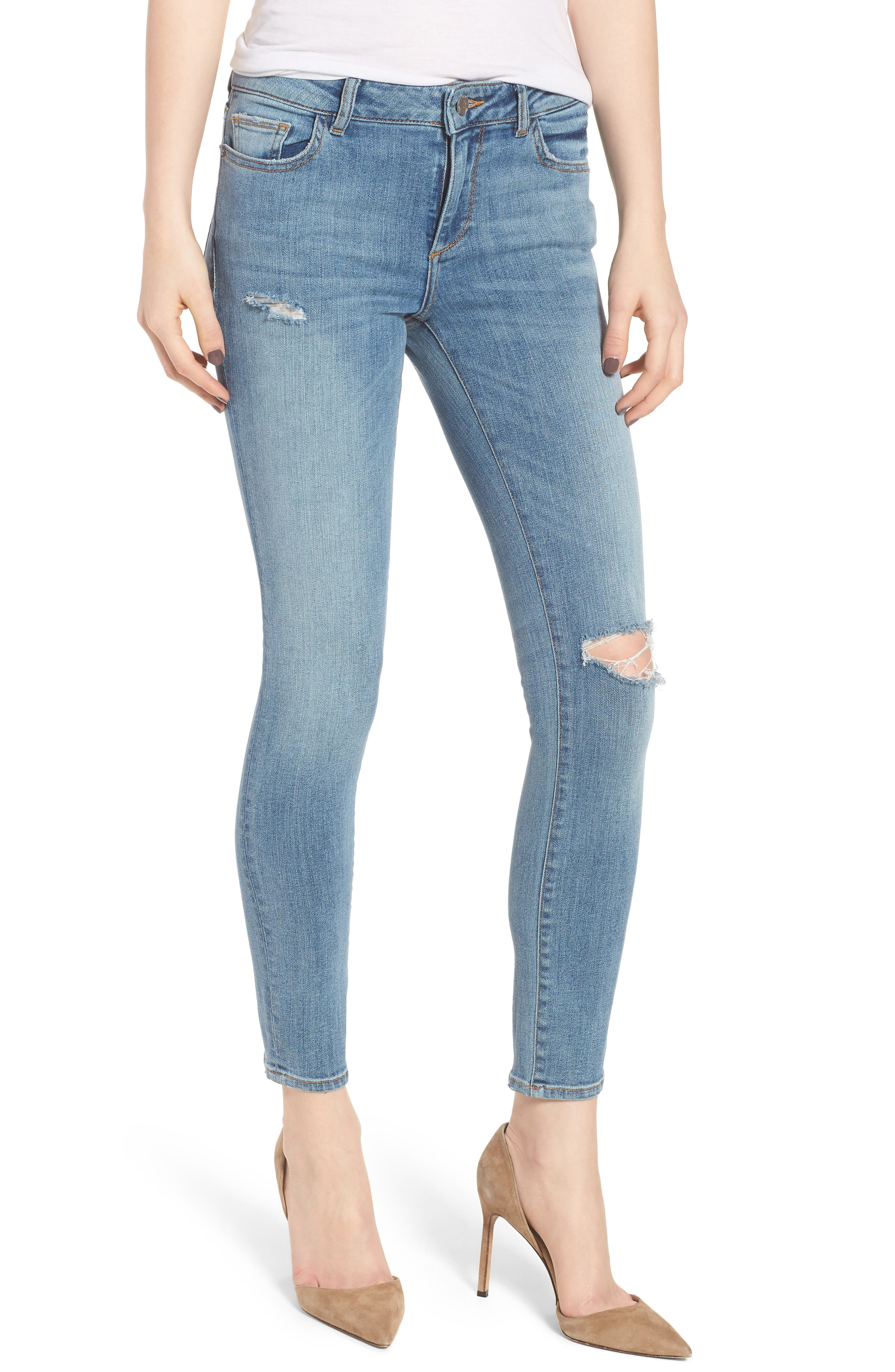 Margaux Instasculpt Ankle Skinny Jeans,                             Main thumbnail 1, color,                             Quincy