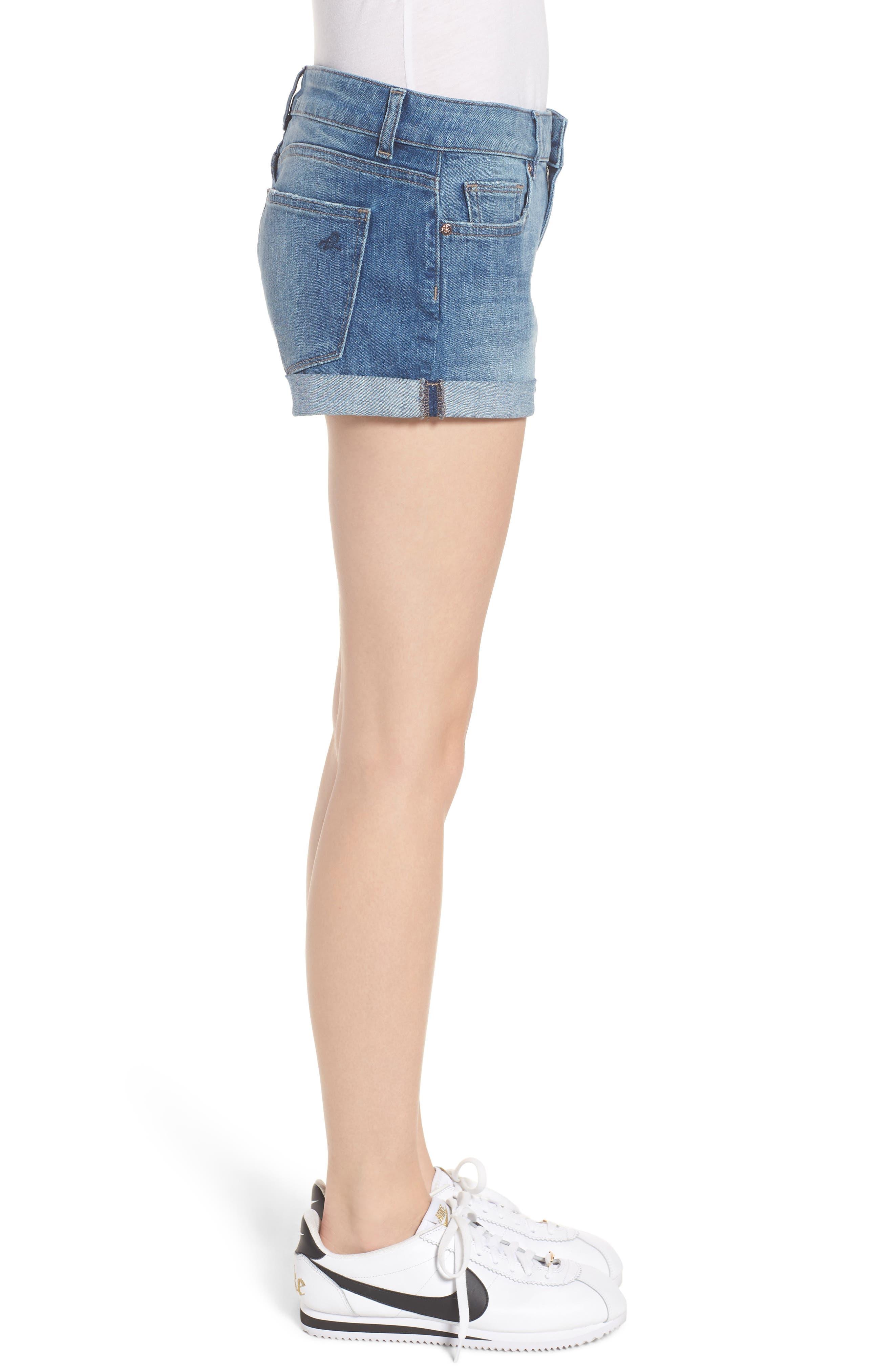 Alternate Image 3  - DL1961 Renee Cuff Denim Shorts (Somerset)