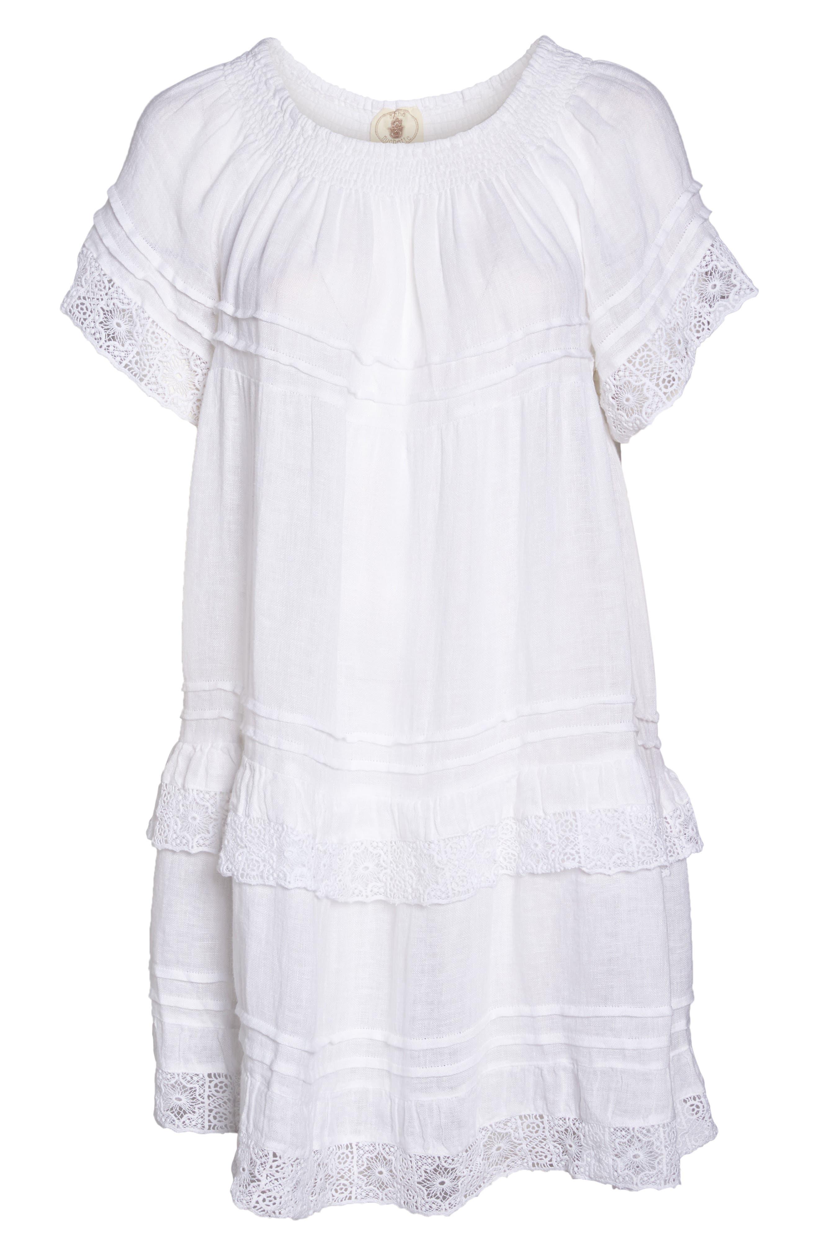 Esmerelda Cover-Up Dress,                             Alternate thumbnail 6, color,                             White