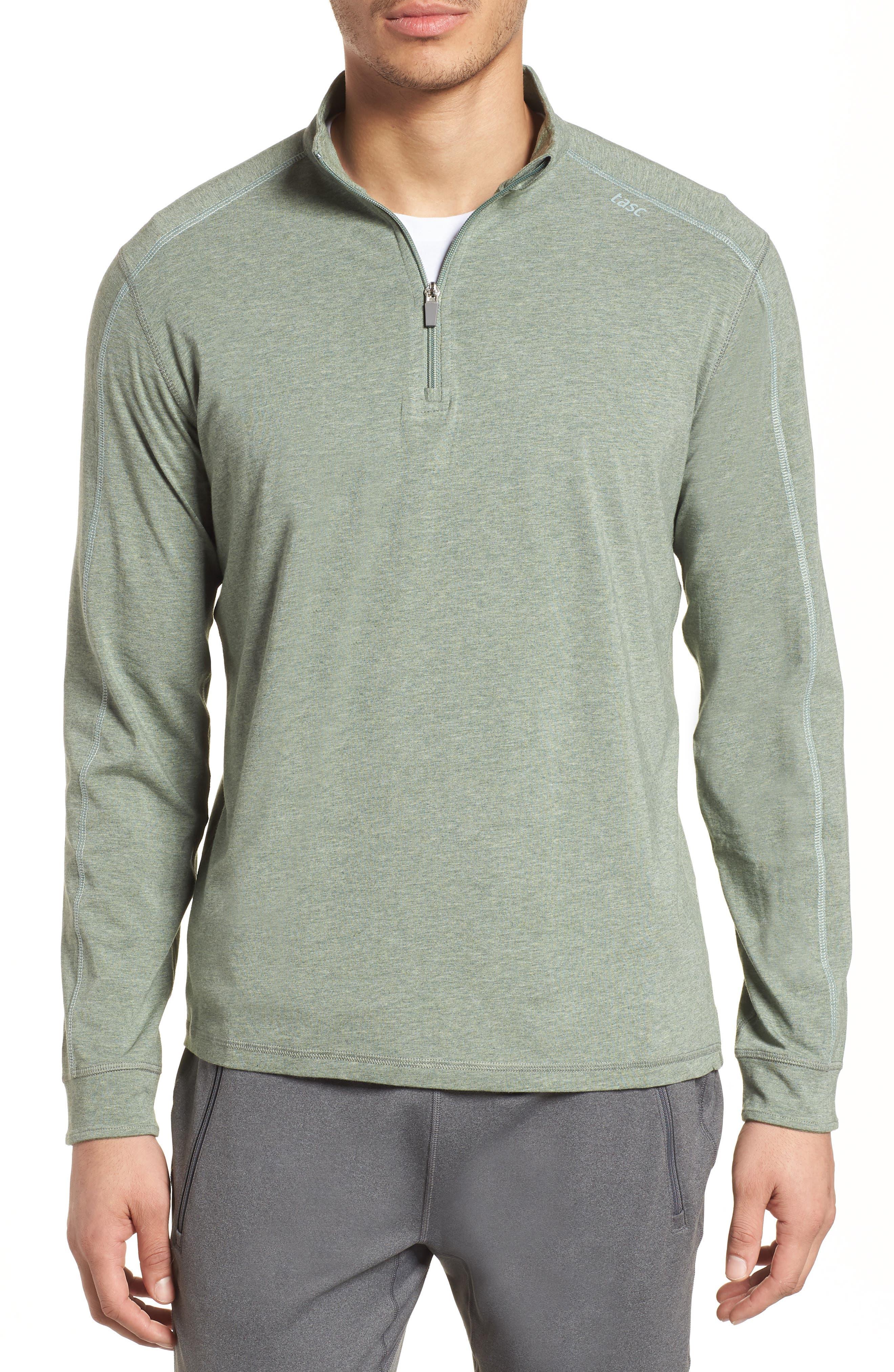 Carrollton Quarter Zip Sweatshirt,                         Main,                         color, Kelp Heather