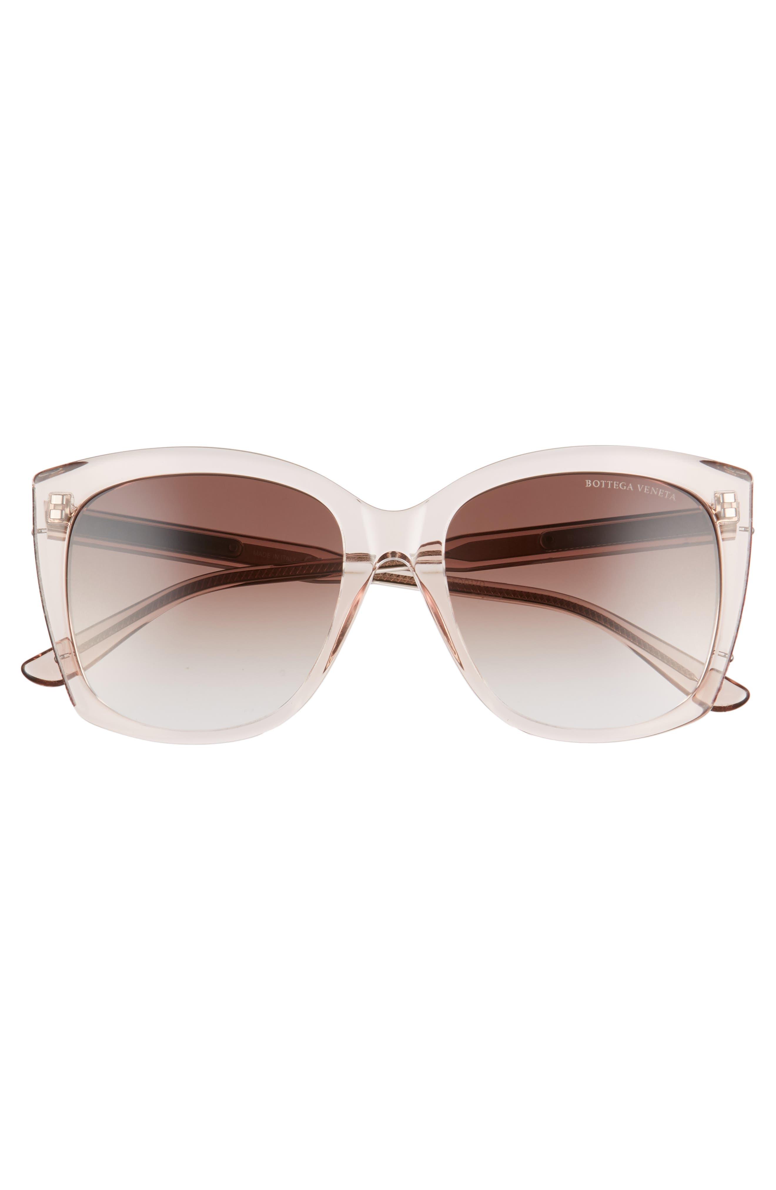 55mm Cat Eye Sunglasses,                             Alternate thumbnail 3, color,                             Pink