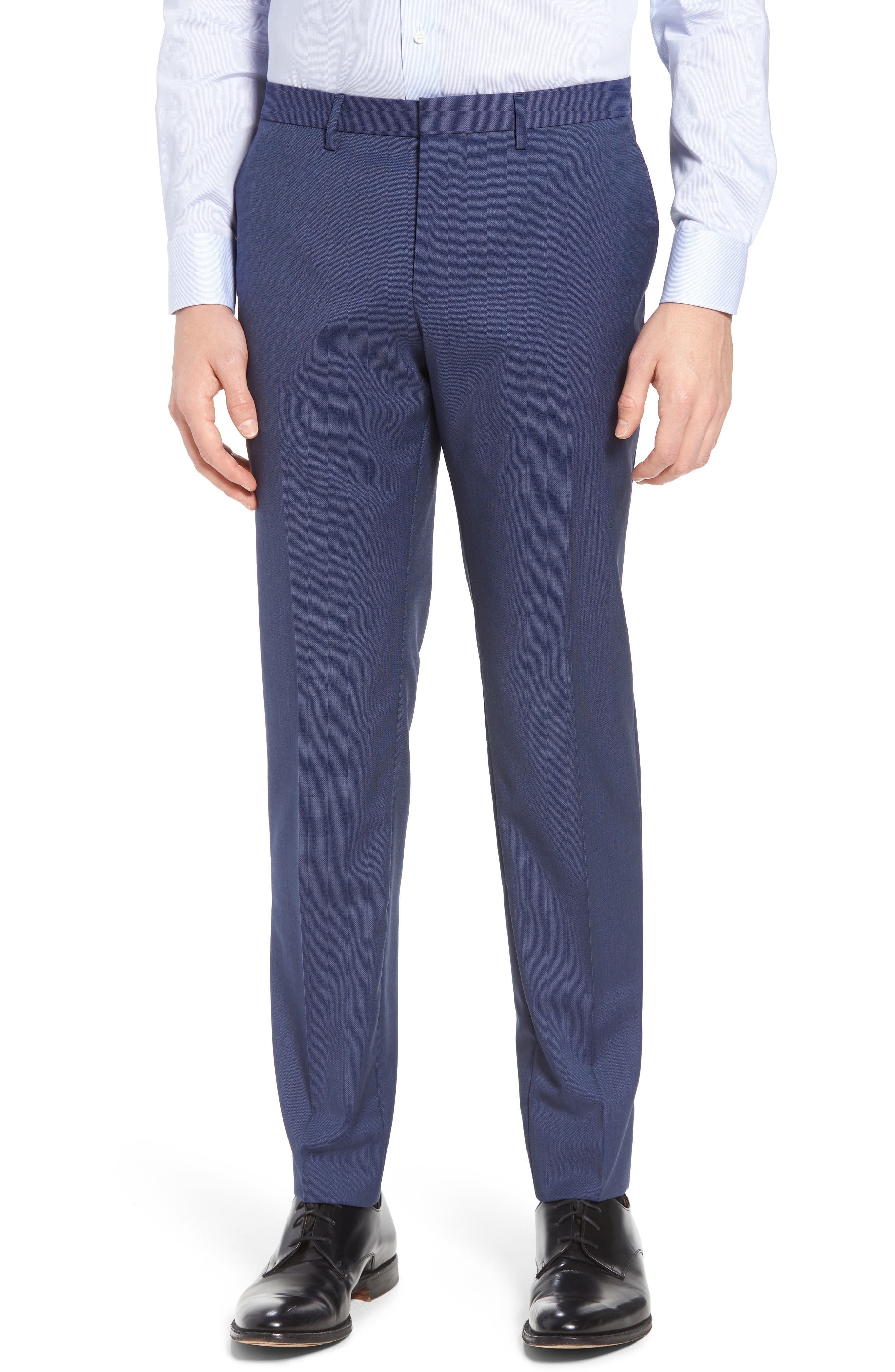 Reyno/Wave Extra Trim Fit Solid Wool Suit,                             Alternate thumbnail 6, color,                             Medium Blue