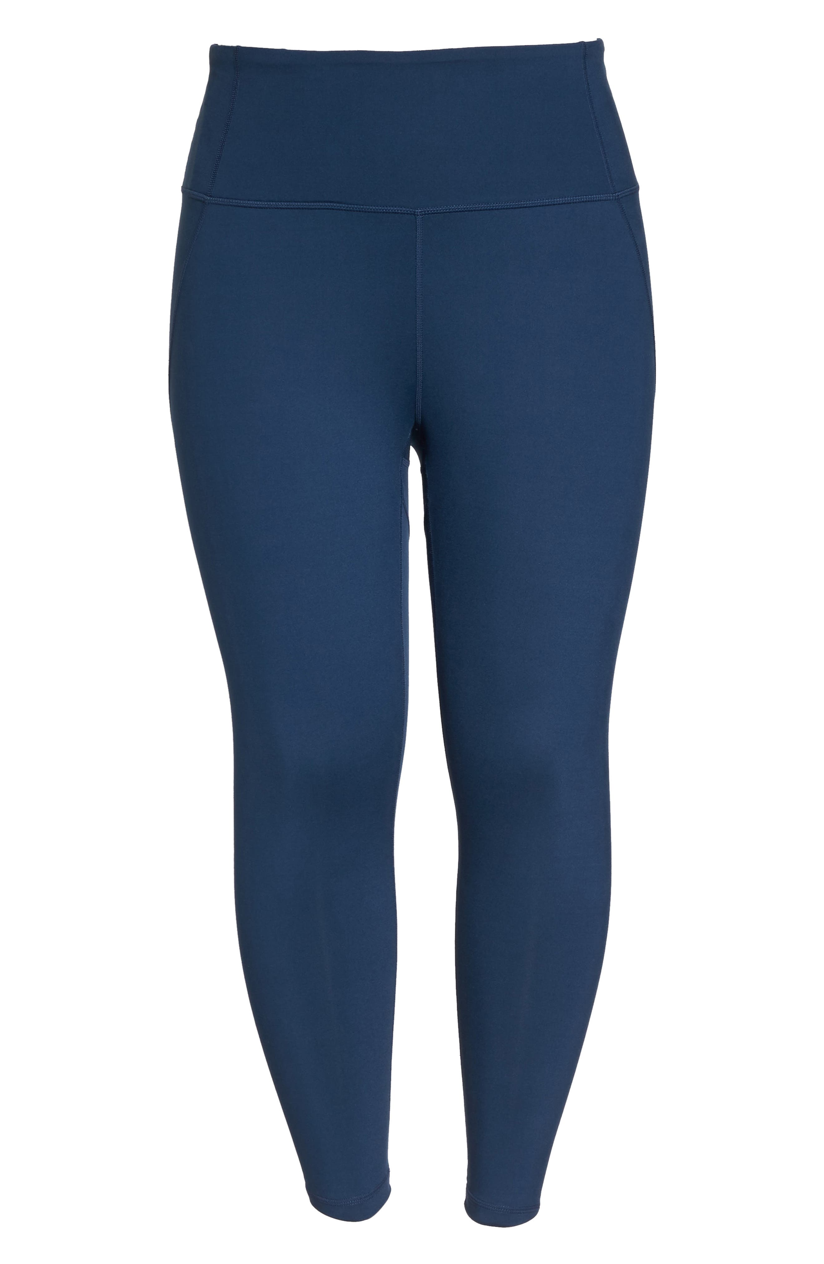 Lightweight High Waist Midi Leggings,                             Alternate thumbnail 6, color,                             Blue Insignia