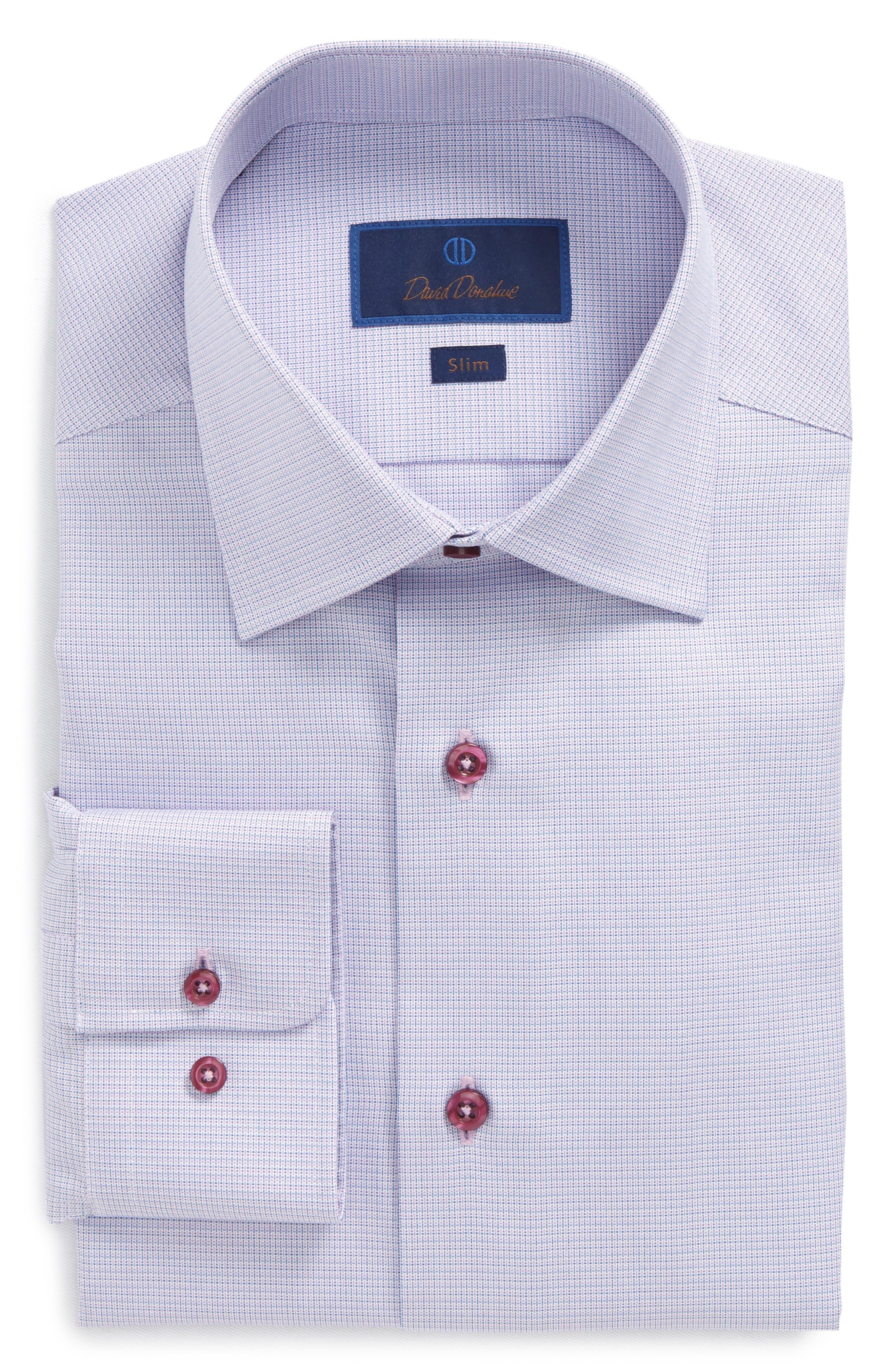 Print Slim Fit Dress Shirt,                             Main thumbnail 1, color,                             Berry