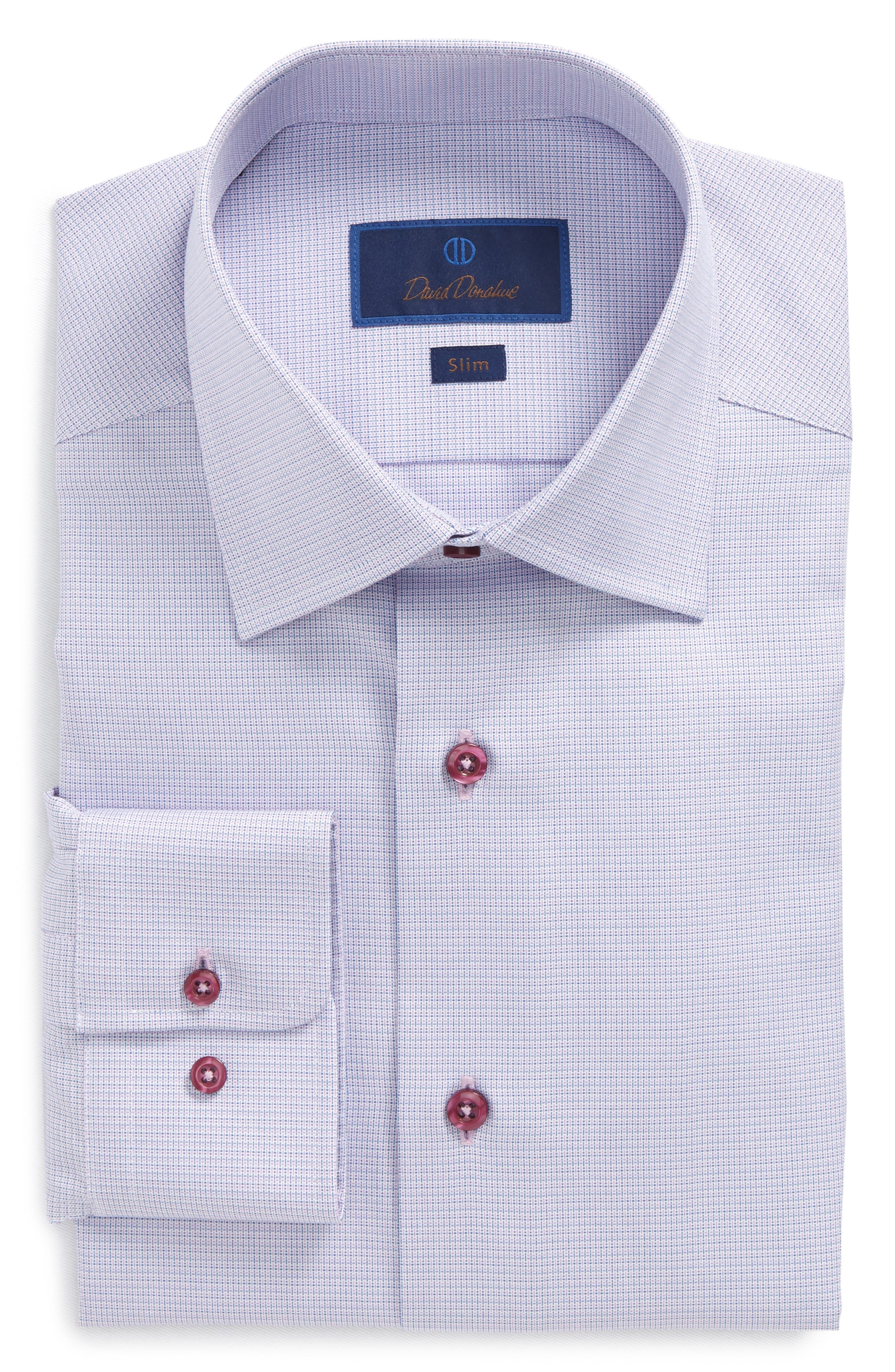 Print Slim Fit Dress Shirt,                         Main,                         color, Berry