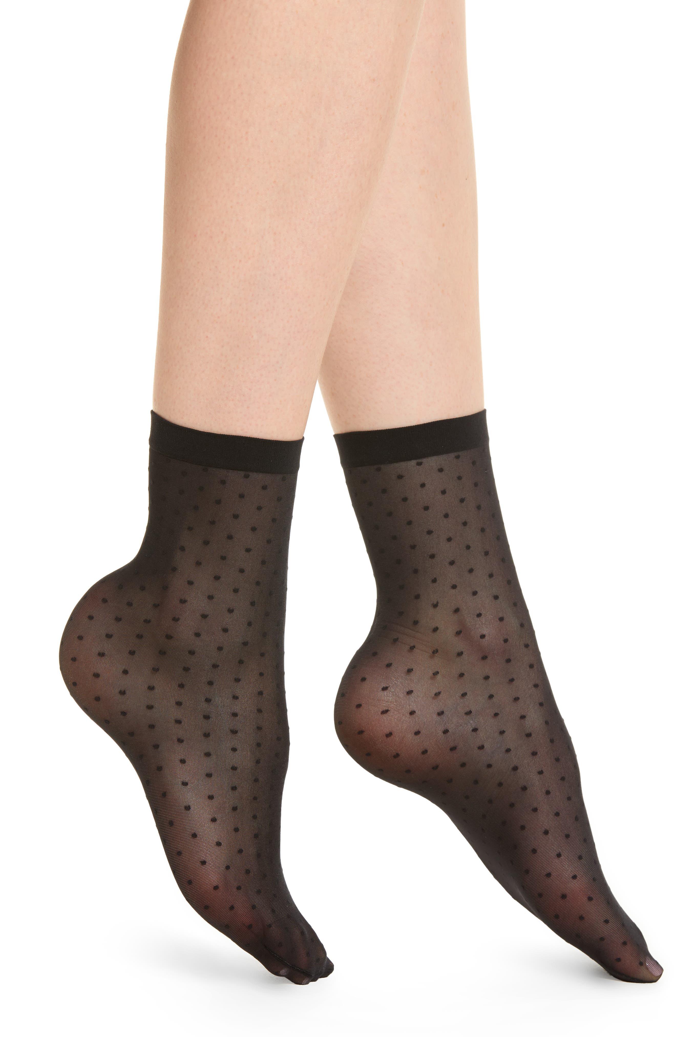 Sarah Jessica Sheer Socks,                         Main,                         color, Black