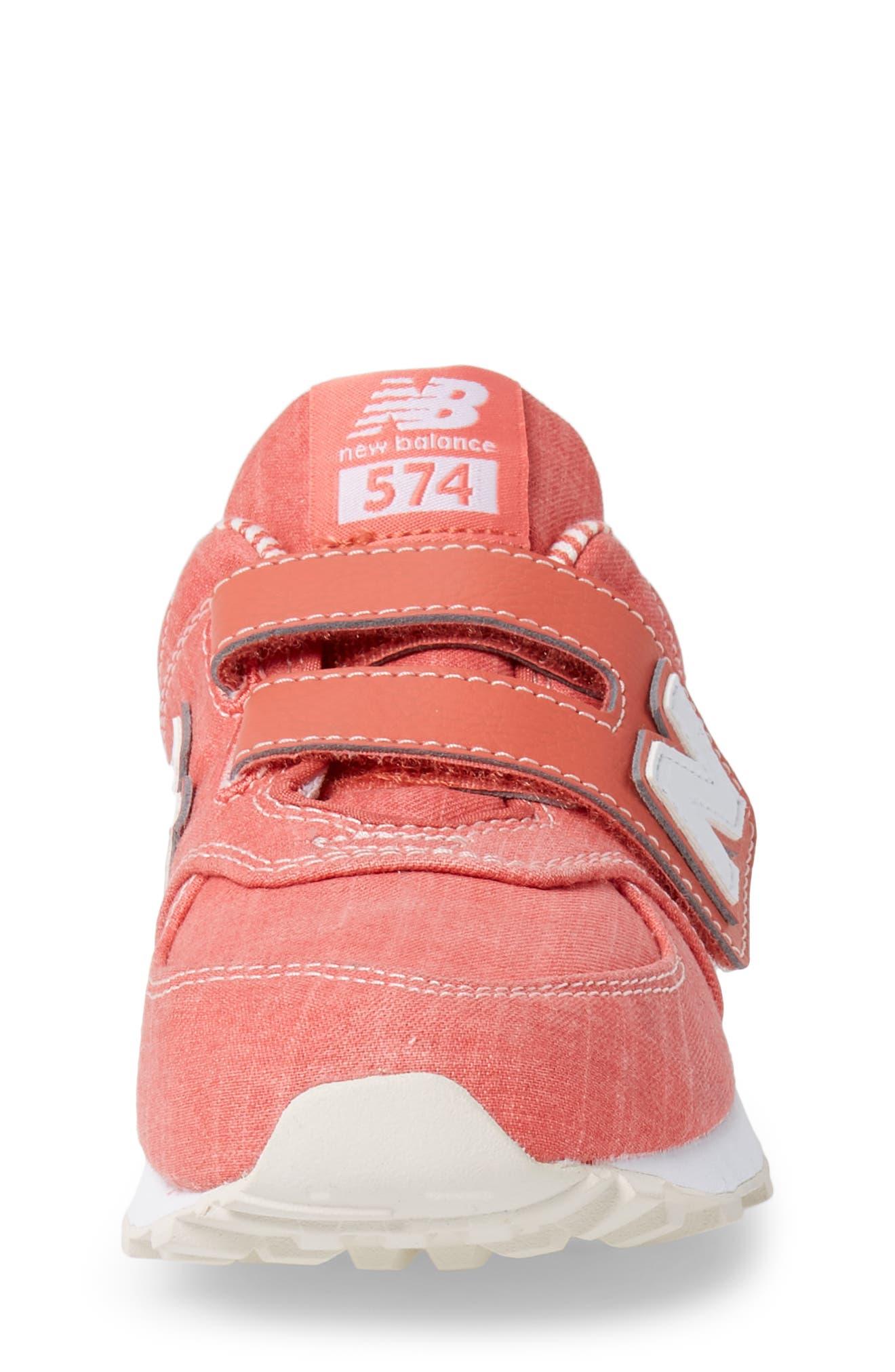 574v1 Sneaker,                             Alternate thumbnail 5, color,                             Coral