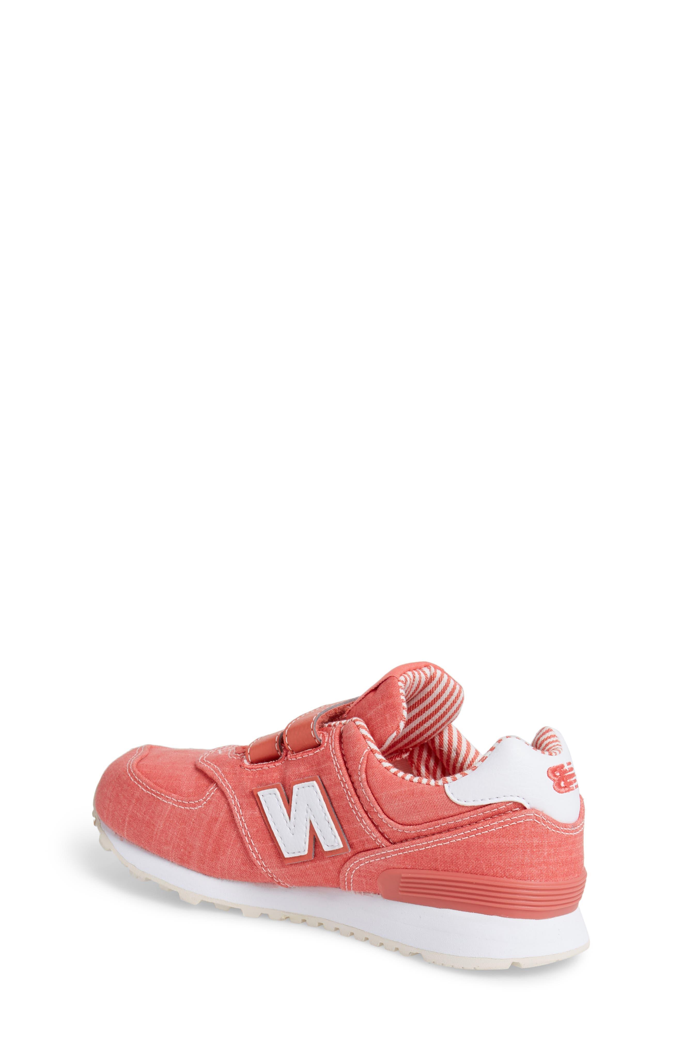 574v1 Sneaker,                             Alternate thumbnail 2, color,                             Coral